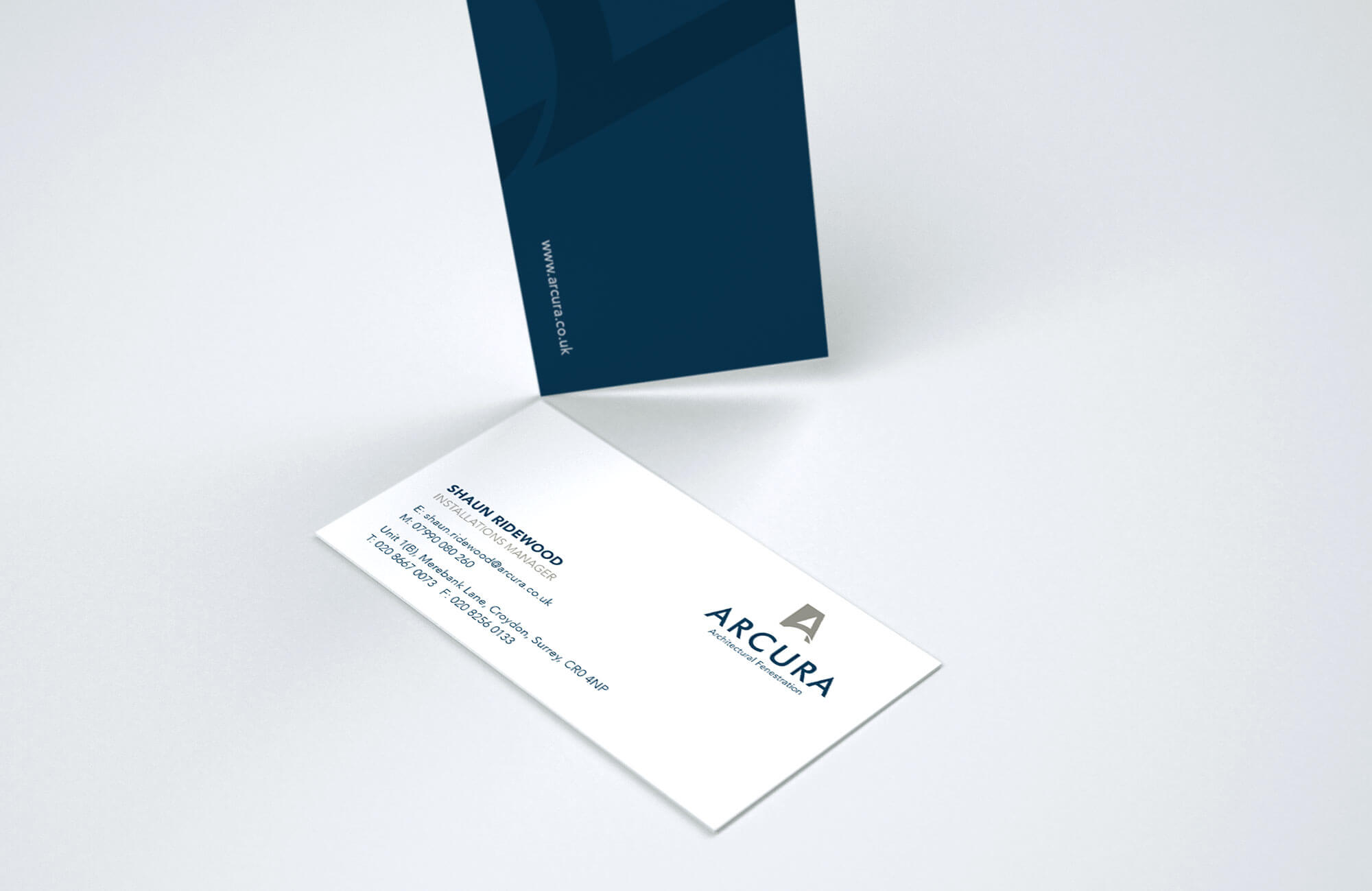 Arcura Business Card Design and Printing