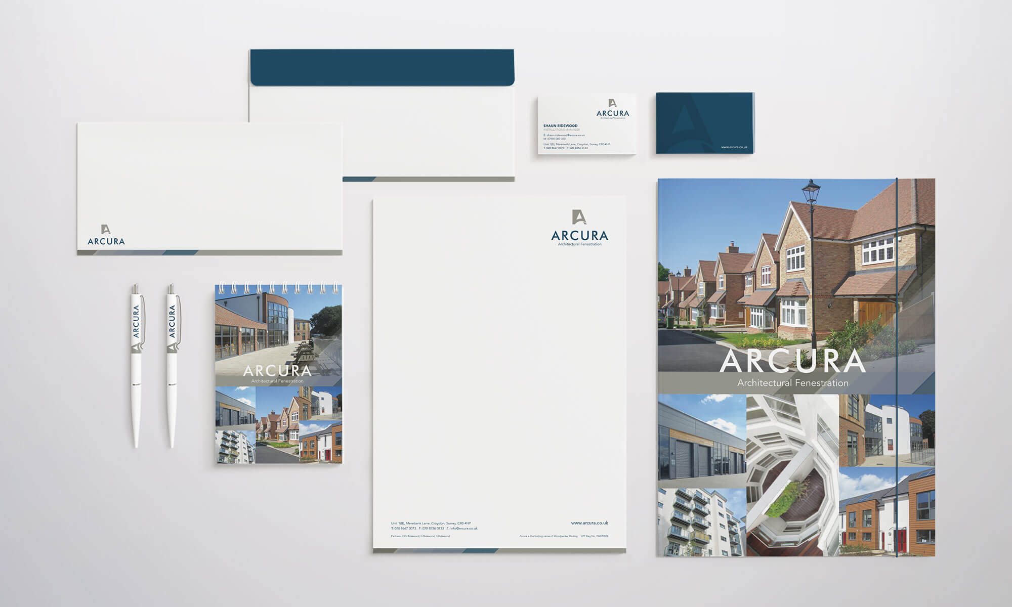 Arcura Stationery Design Concepts