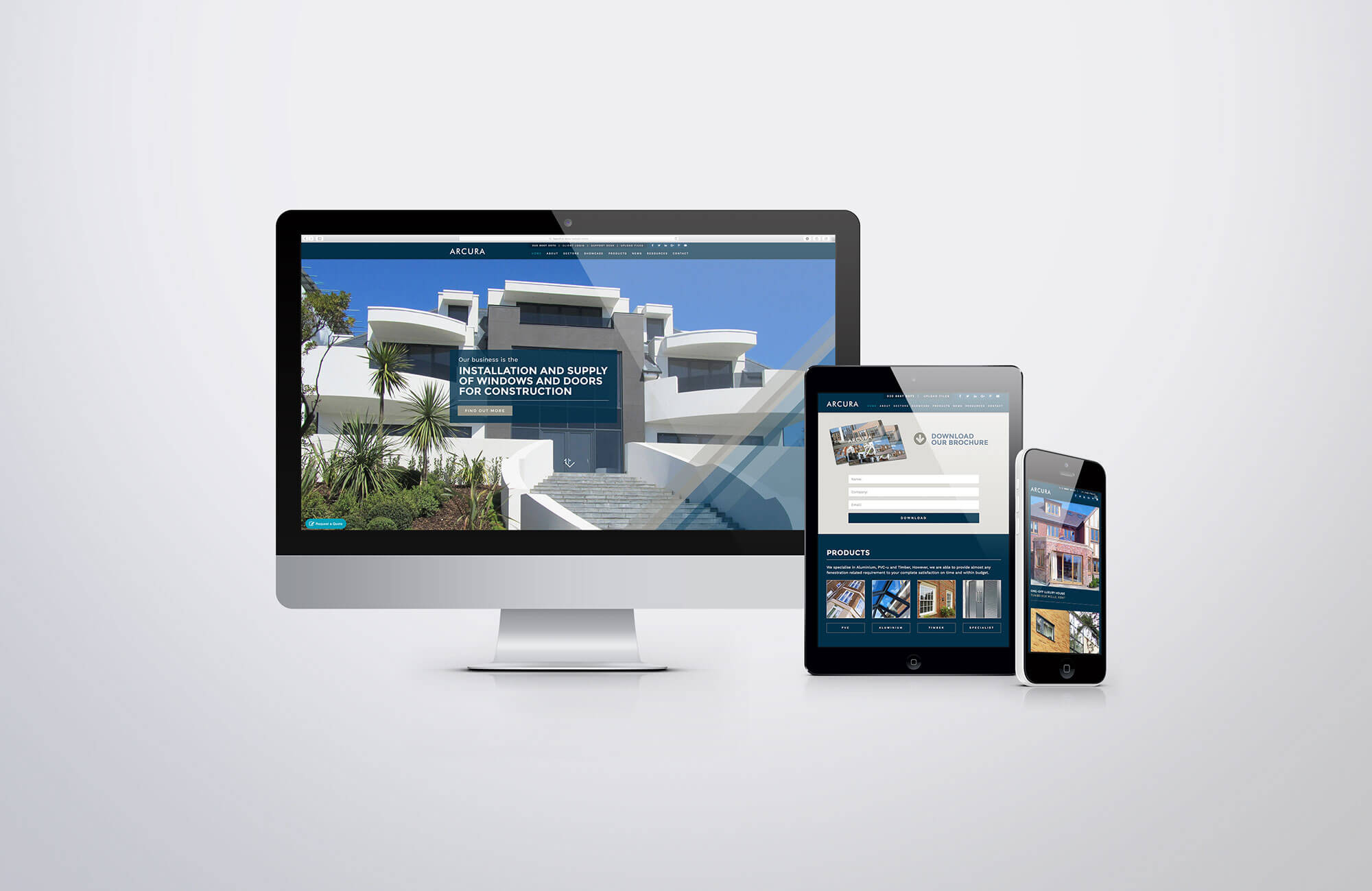 Arcura Website Design and Development