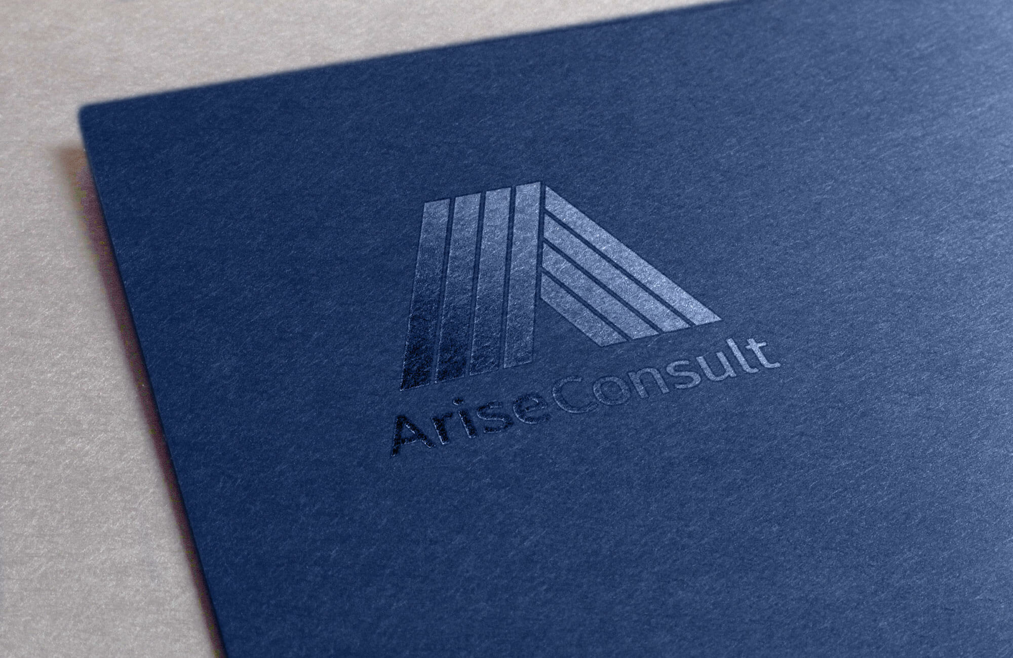 Arise Consult Clear Foiled Logo