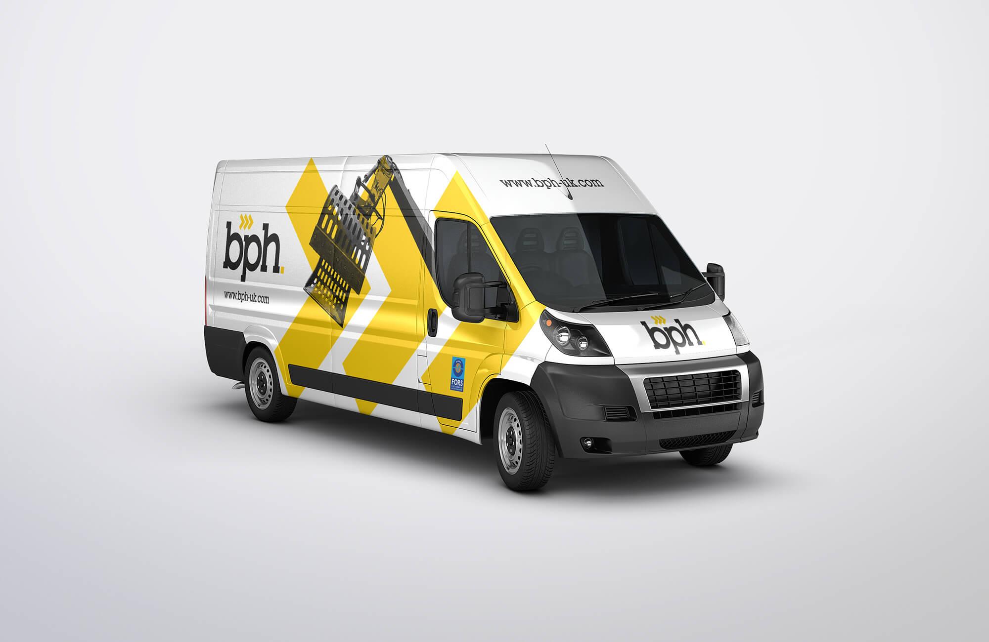 BPH Van Sign Writing Design Concept