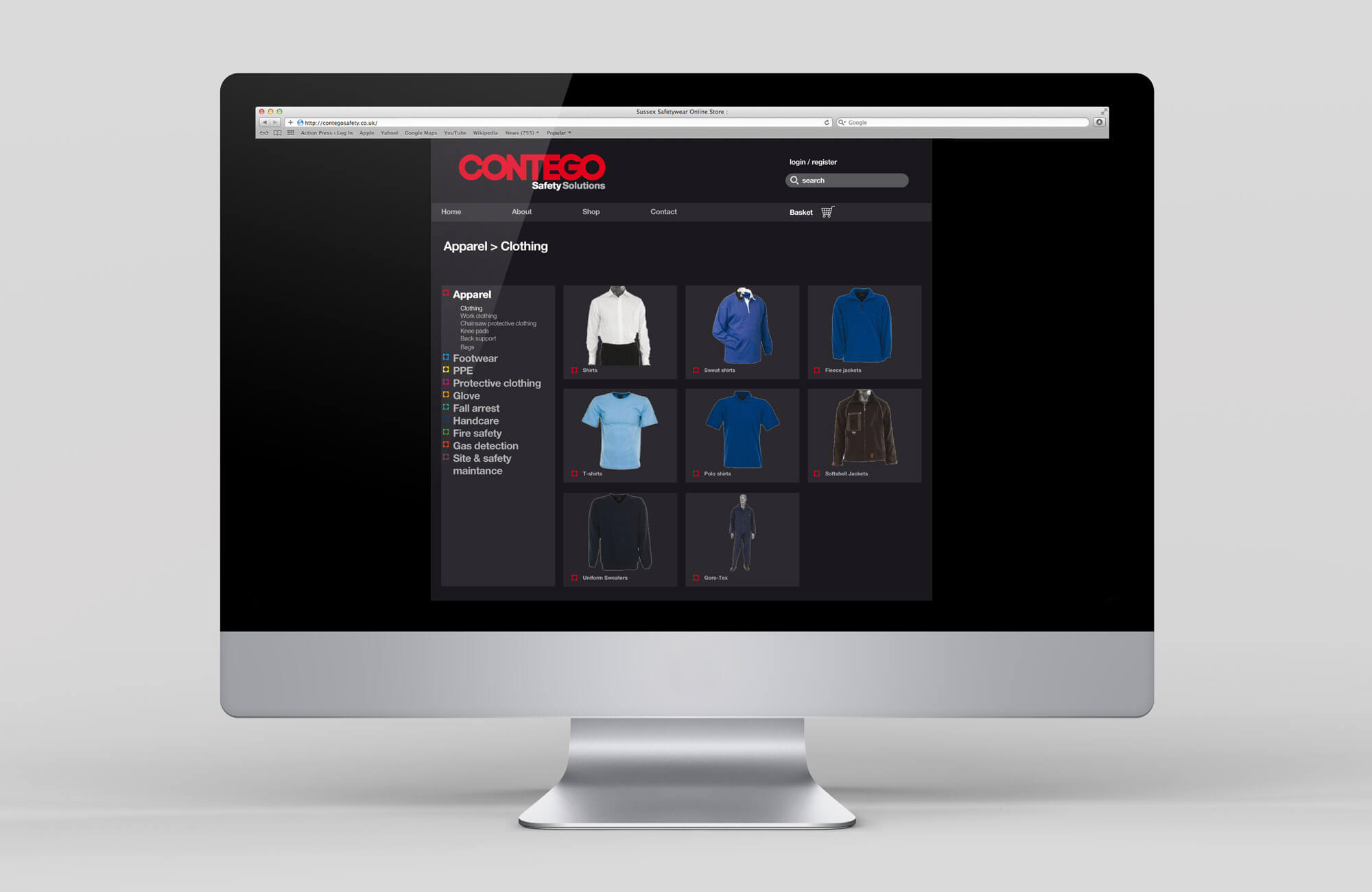 Contego Website Design Visual