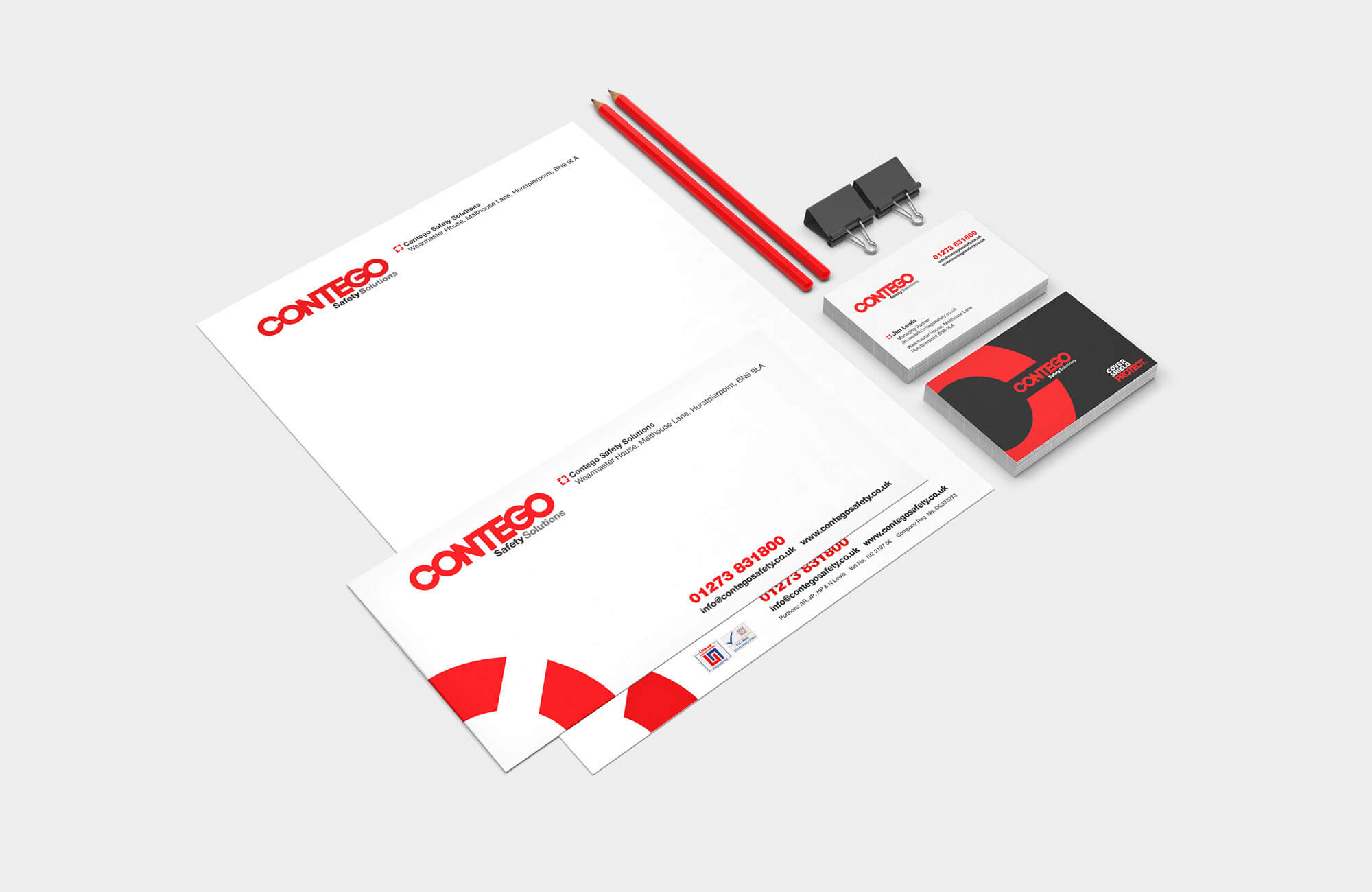 Contego Stationery Design Concepts