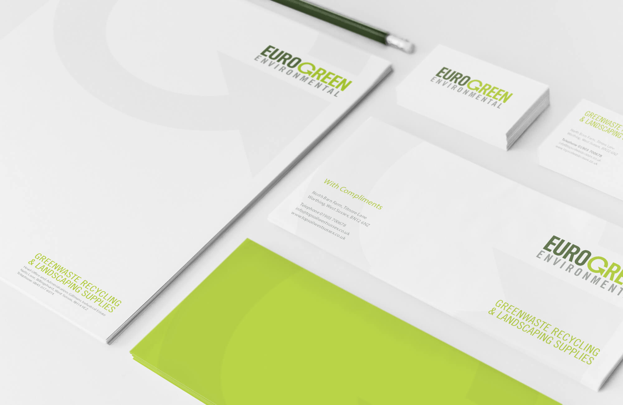 Eurogreen Rebrand and Stationery Design