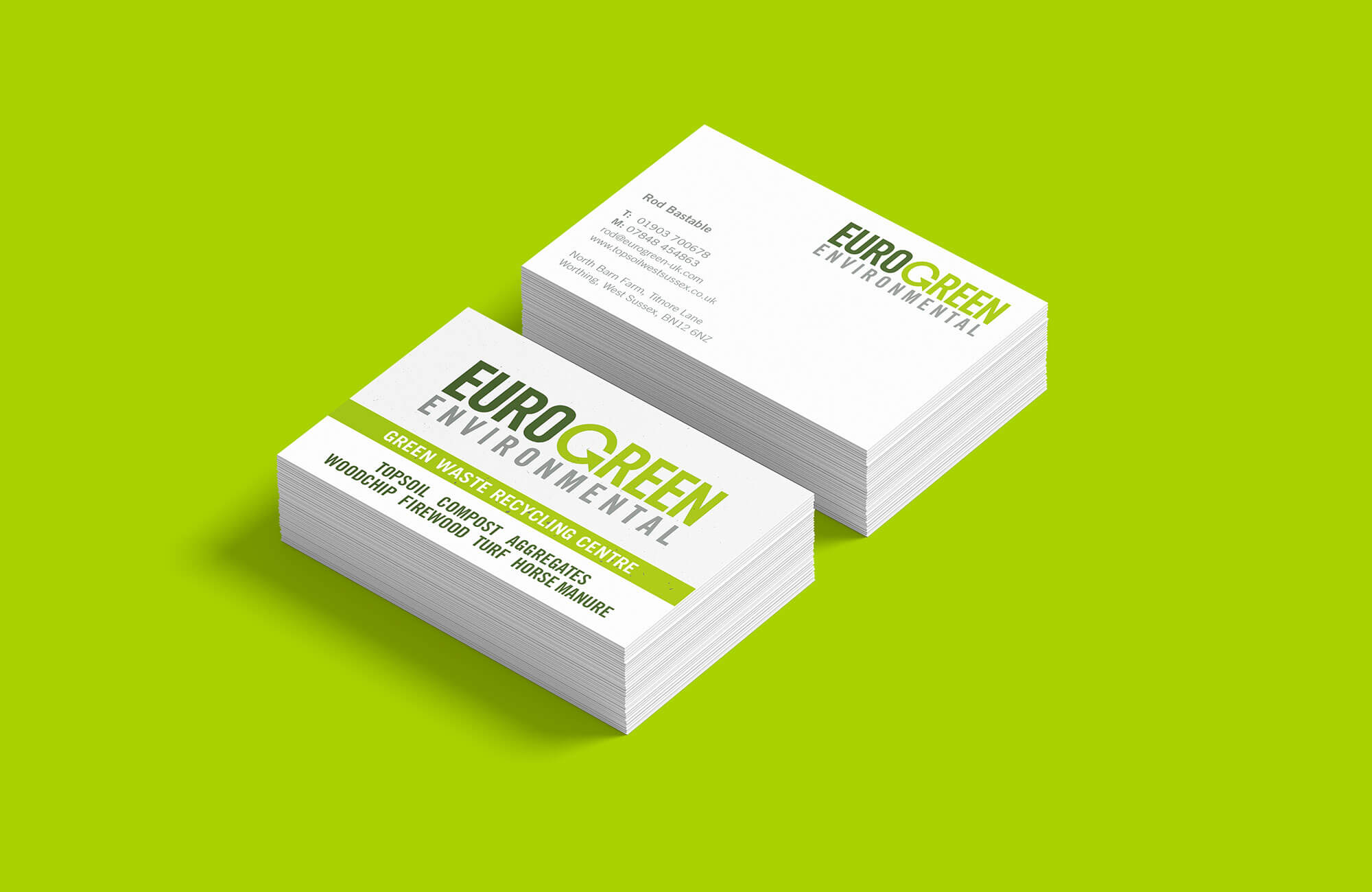 Eurogreen Business Cards Design and Print