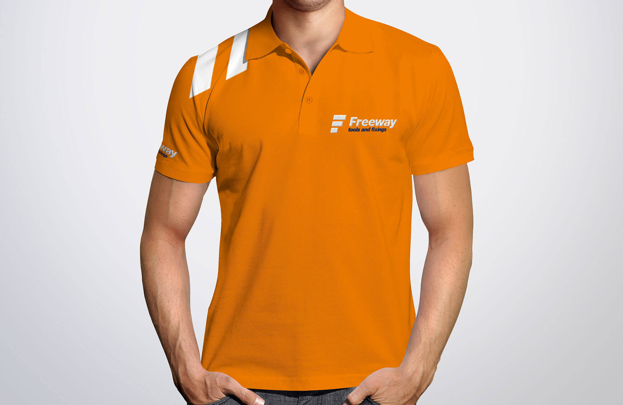 Freeway Branded Polo Shirt Design Concept