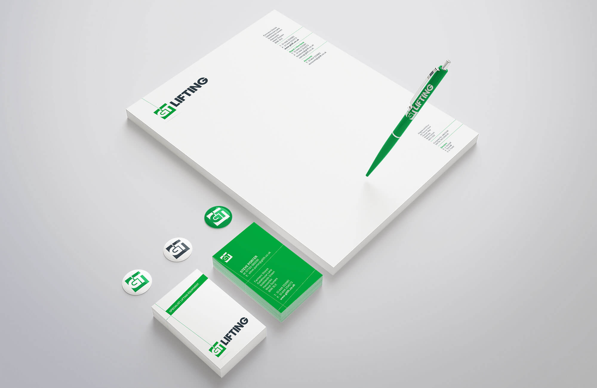 GT Lifting Stationery Design Concepts