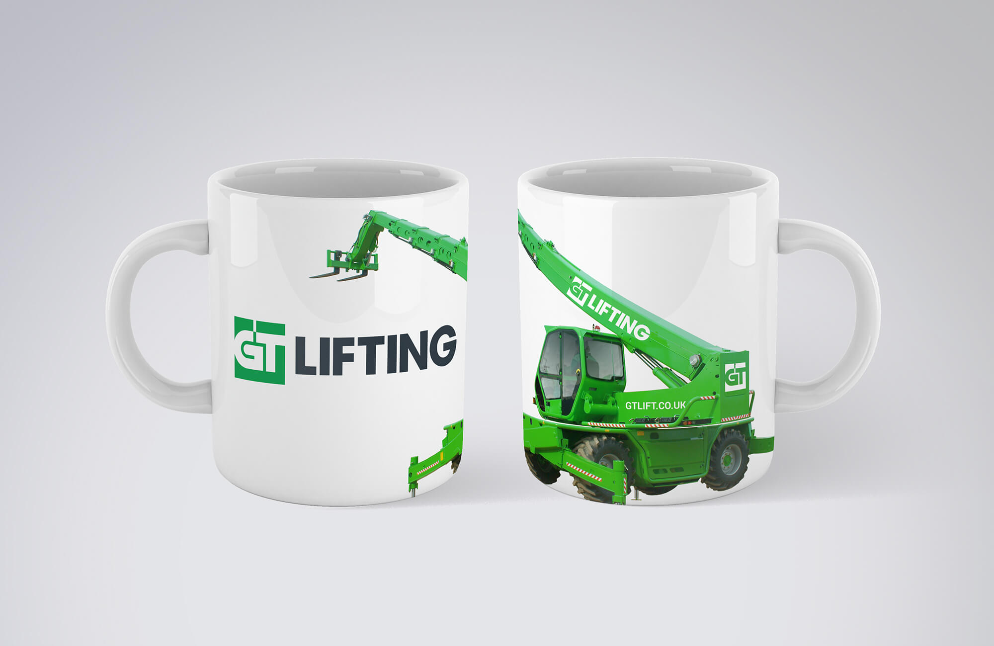GT Lifting Branded Mug Design Concept