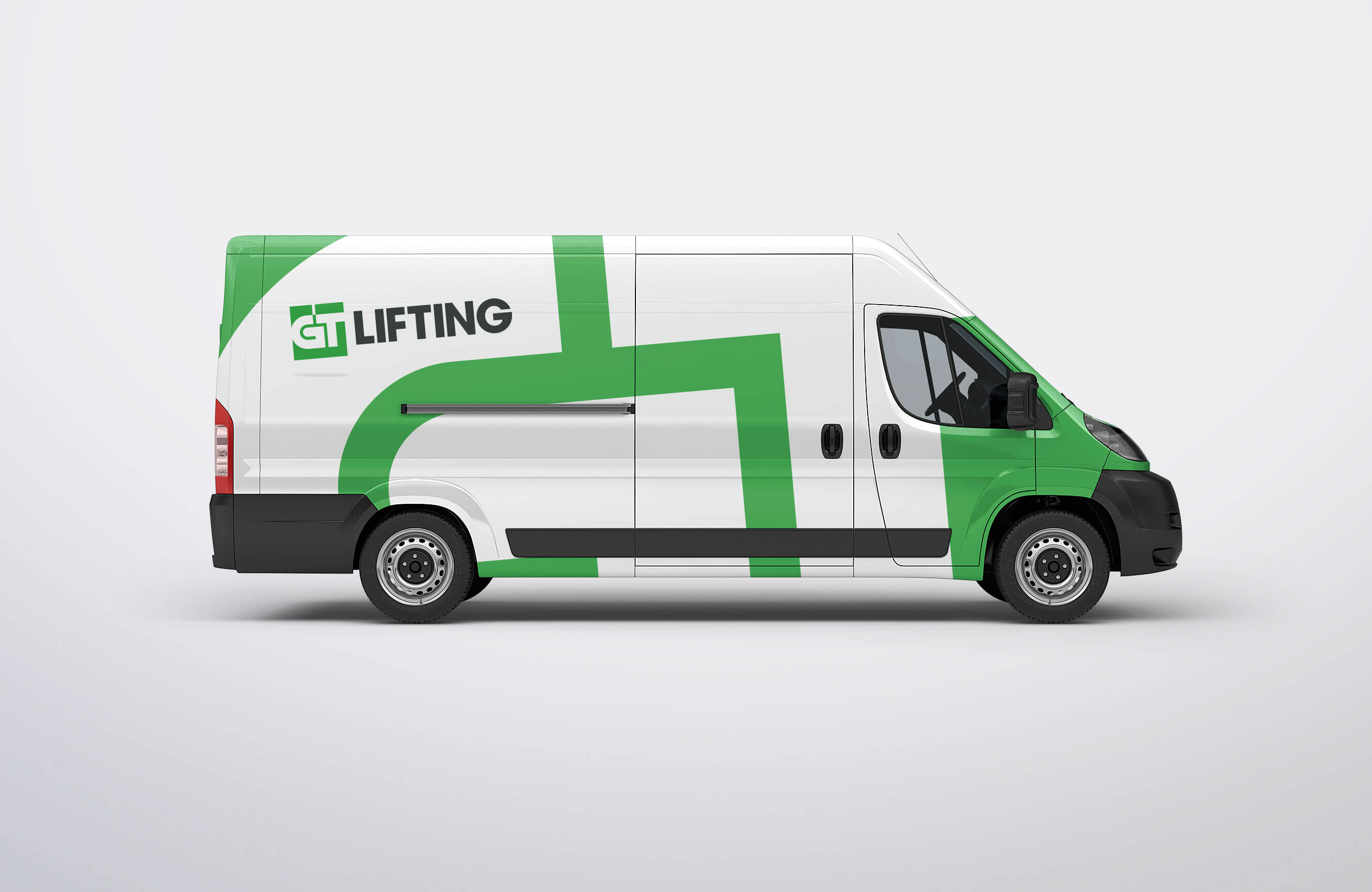 GT Lifting Van Sign Writing Design Concept