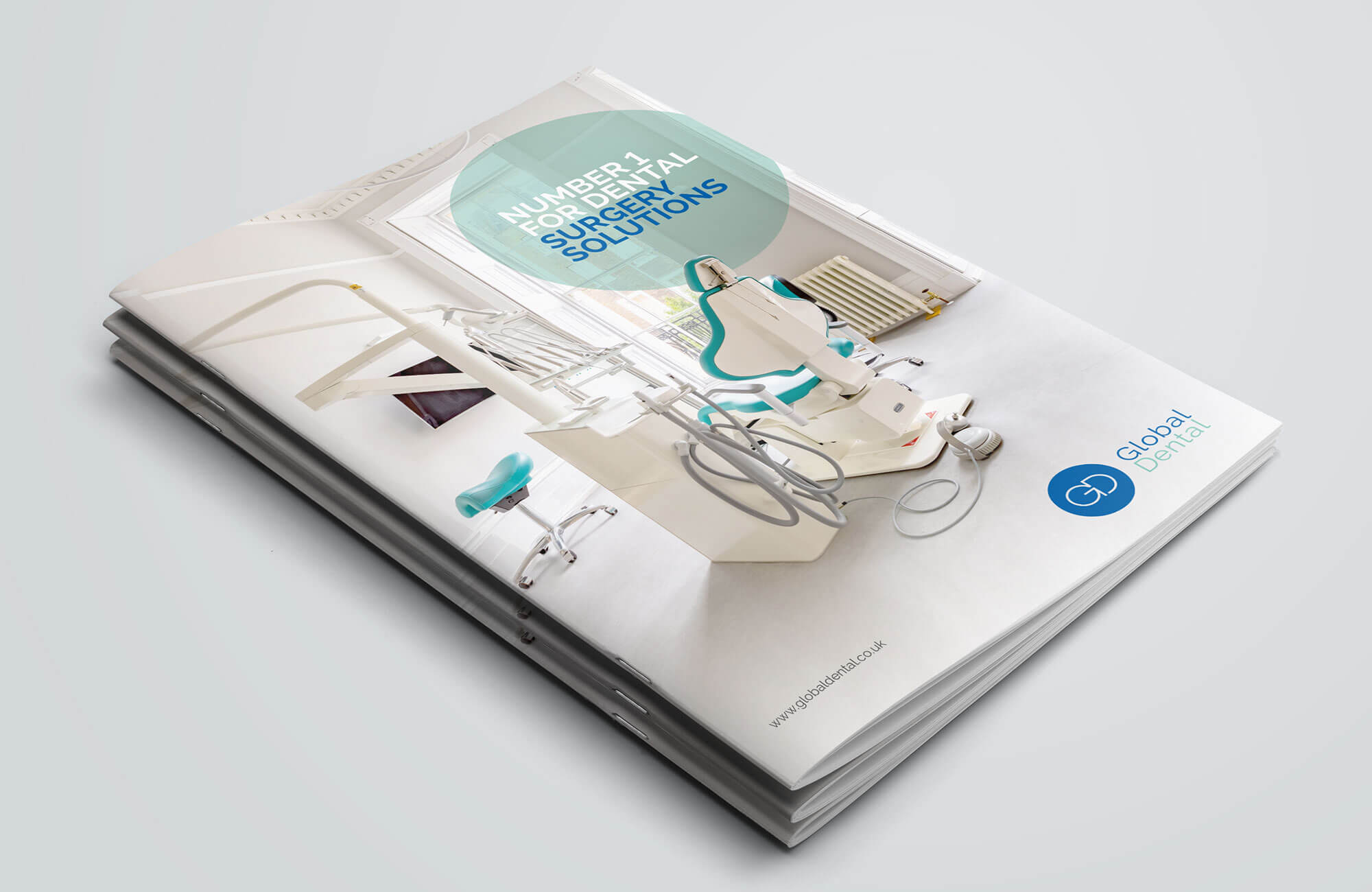 Global Dental Brochure Cover Design Concept
