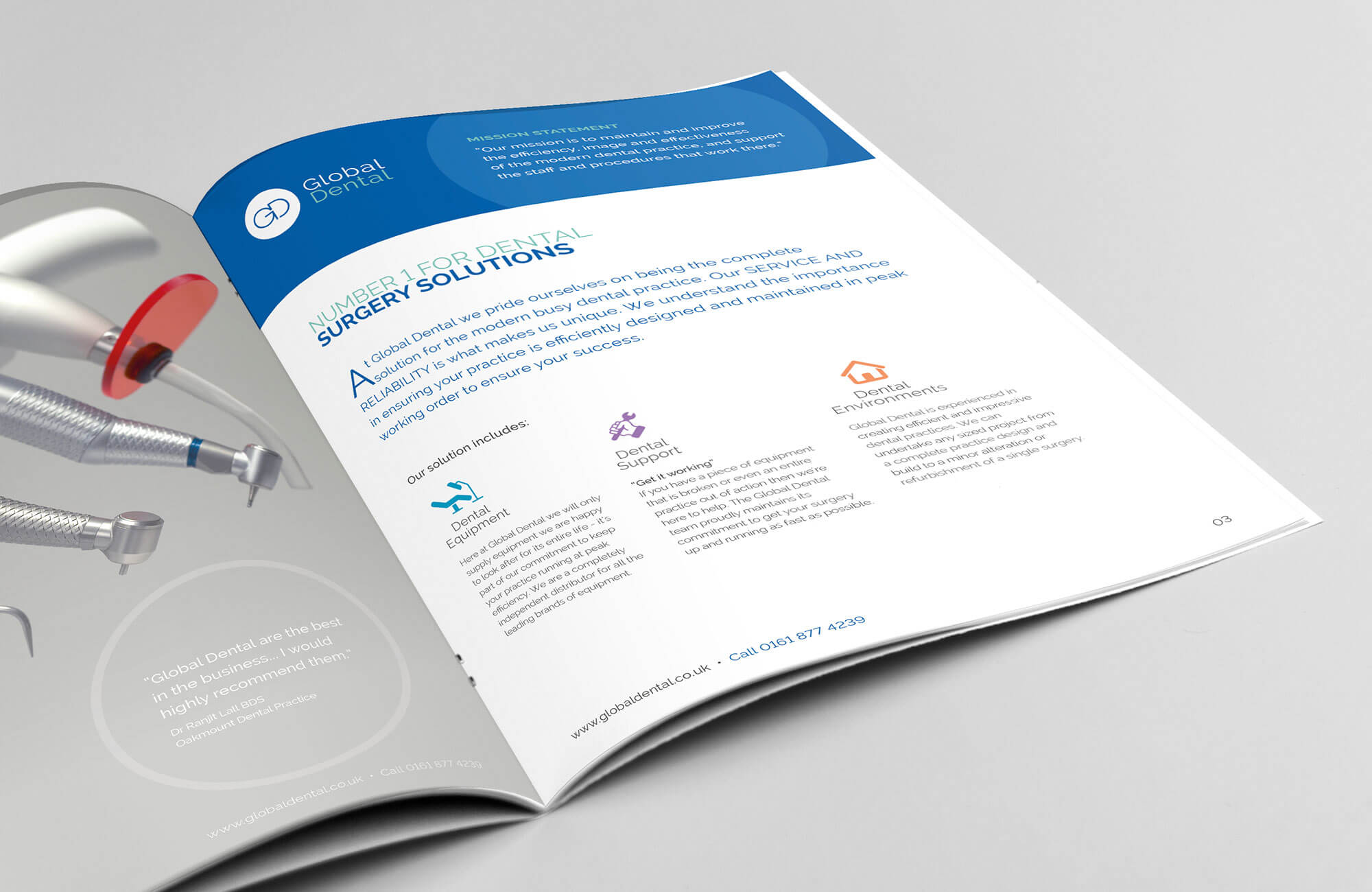 Global Dental | Branding, Brochure Design, Email Marketing - Action