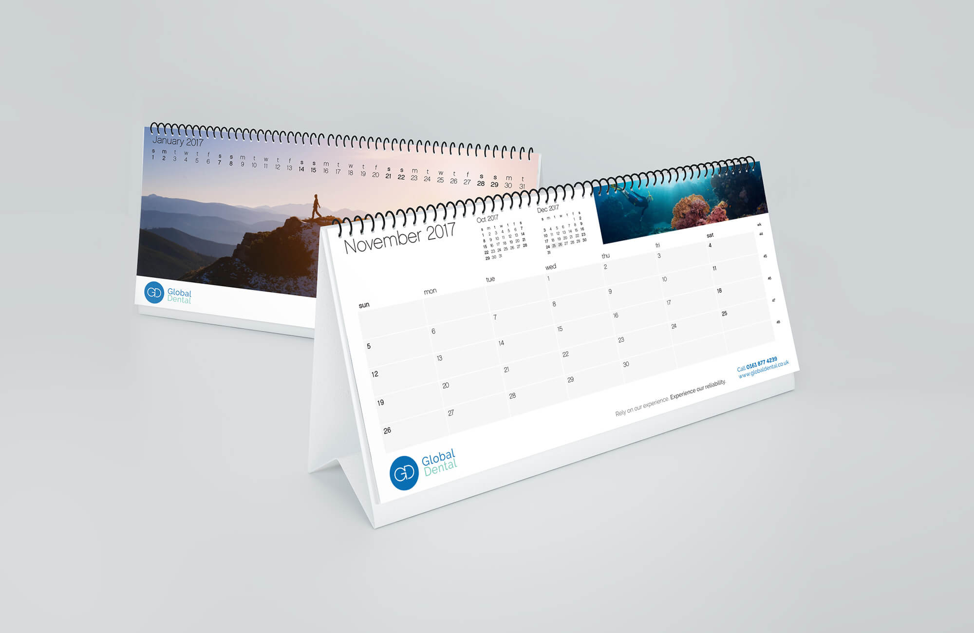 Global Dental Branded Desk Calendar Design Concept
