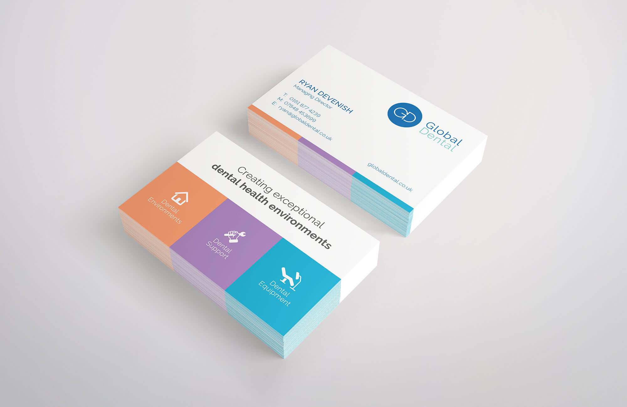 Global Dental Business Cards Design Concept