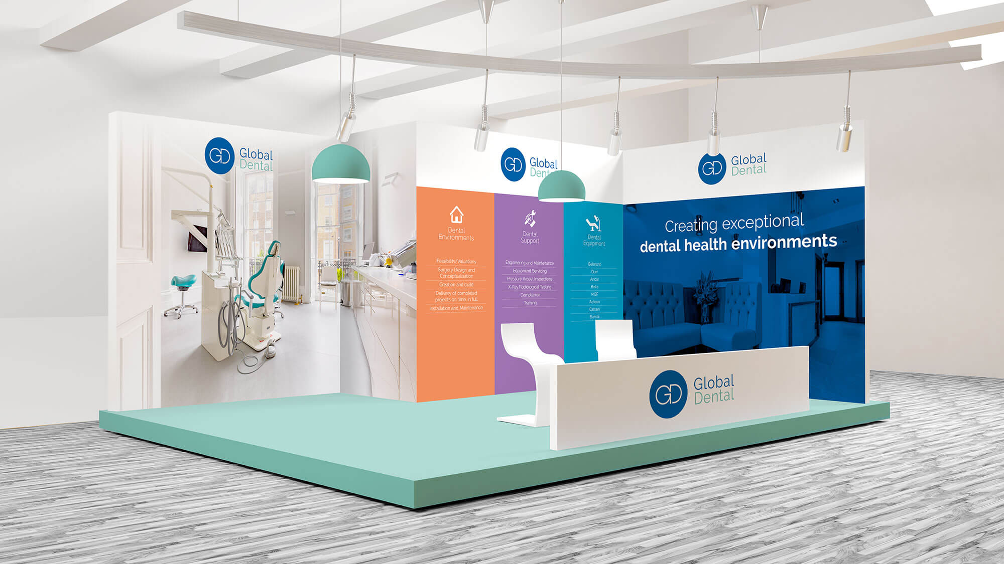 Global Dental Exhibition Stand Design Visual