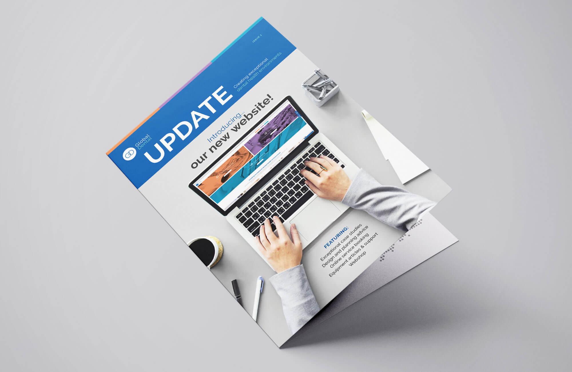 Global Dental Newsletter Cover Design