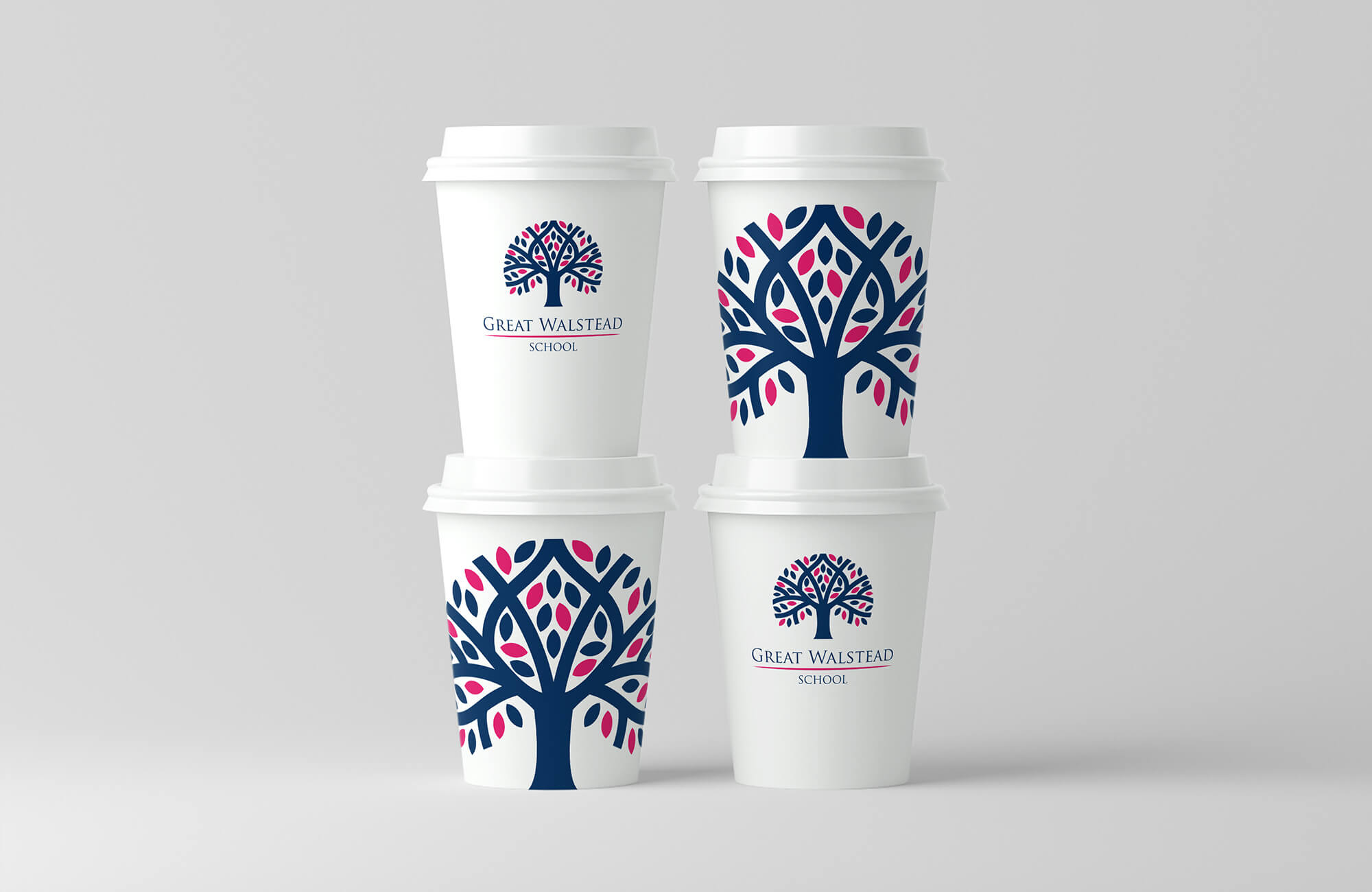 Great Walstead School Branded Coffee Cup Design Concept