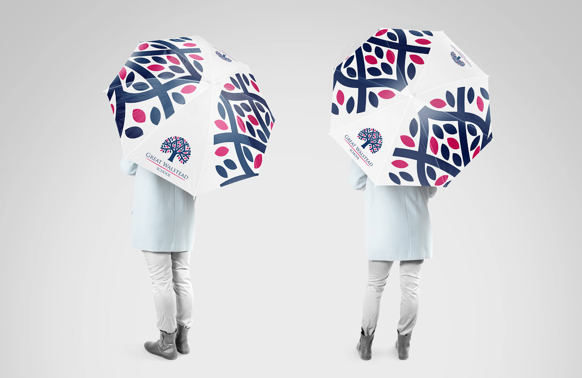 Great Walstead School Branded Umbrella Design Concept
