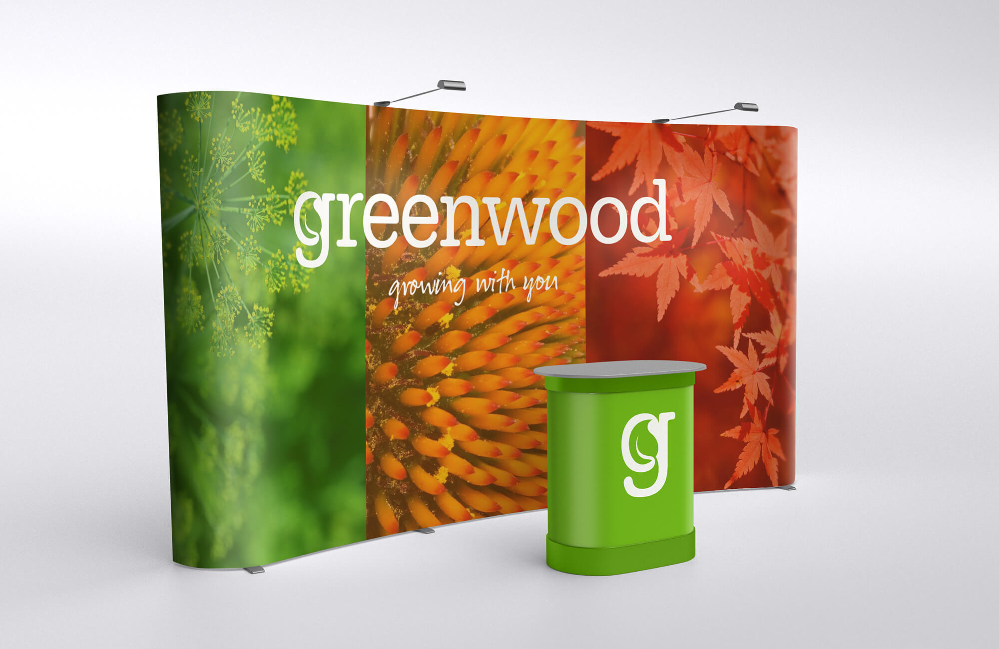 Greenwood Exhibition Banners and Podium