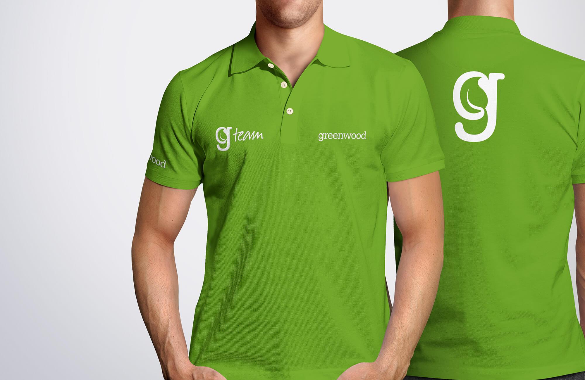 Greenwood Branded Polo Shirt Design Concept