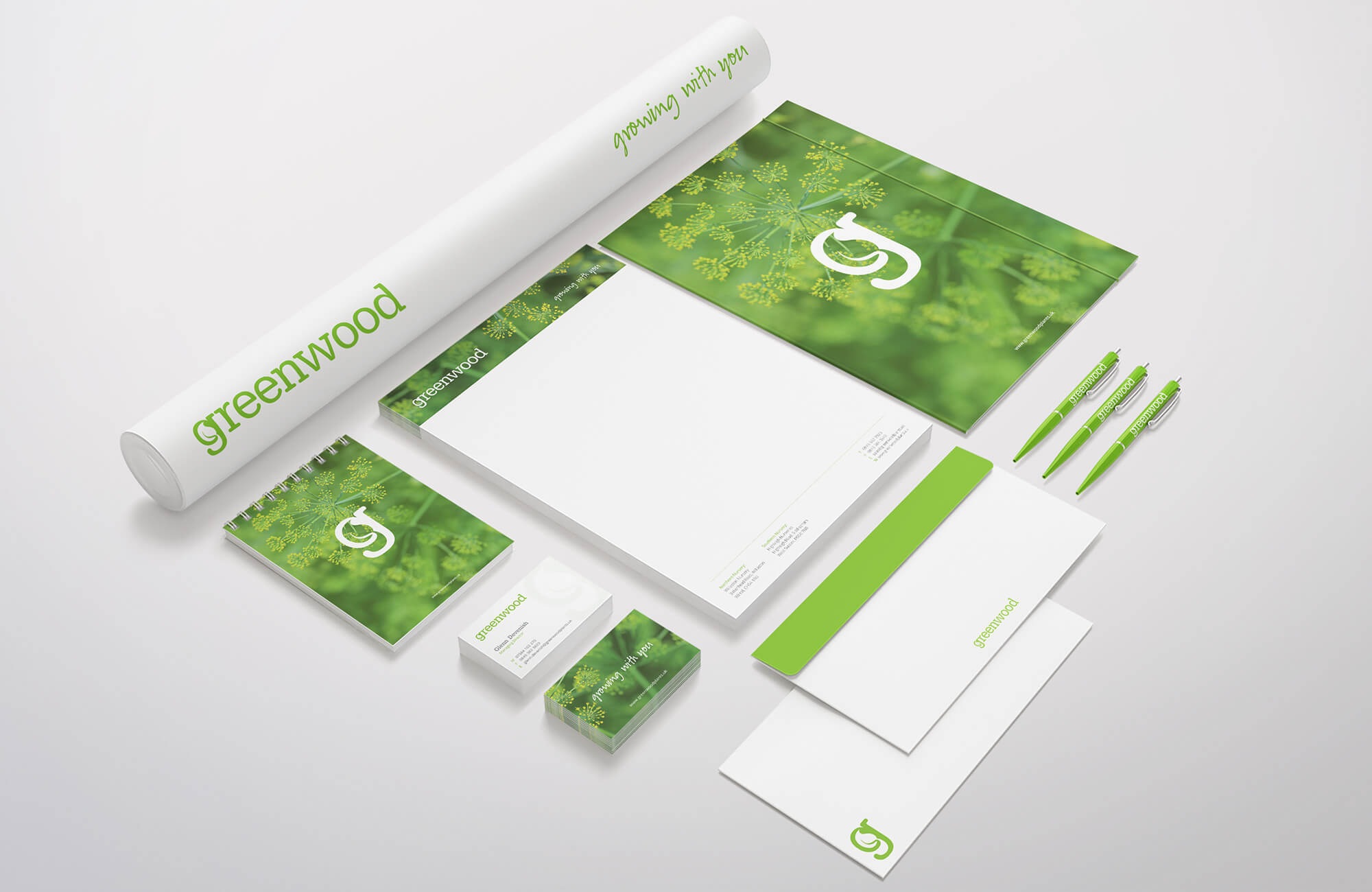 Greenwood Business Stationery Design Concepts
