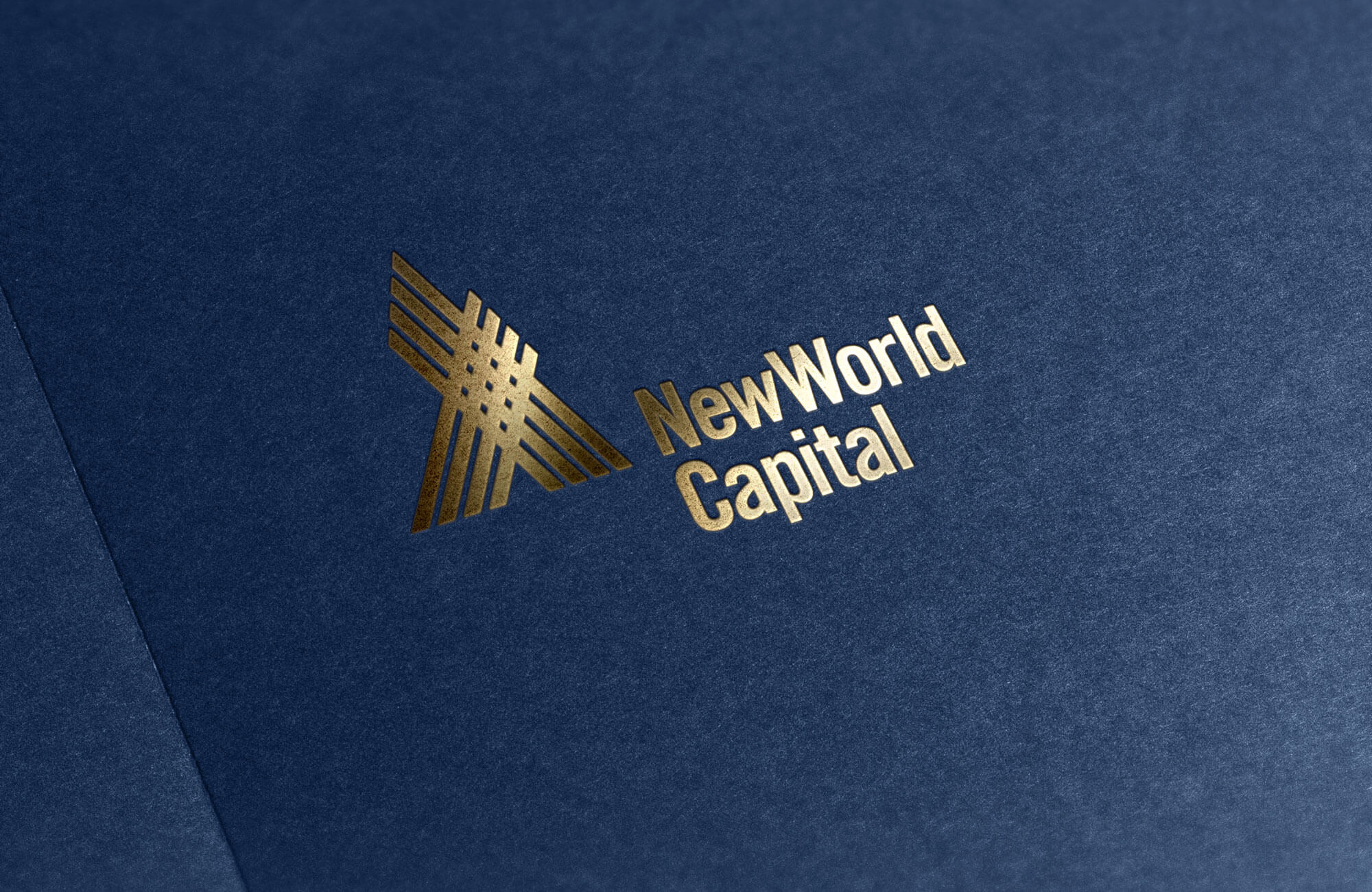 New World Capital Foiled Logo Design