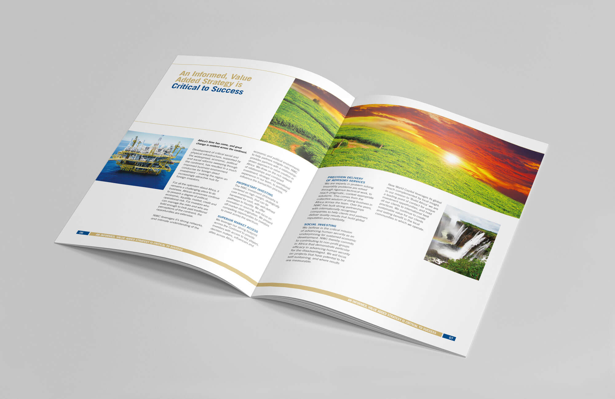 New World Capital Brochure Design