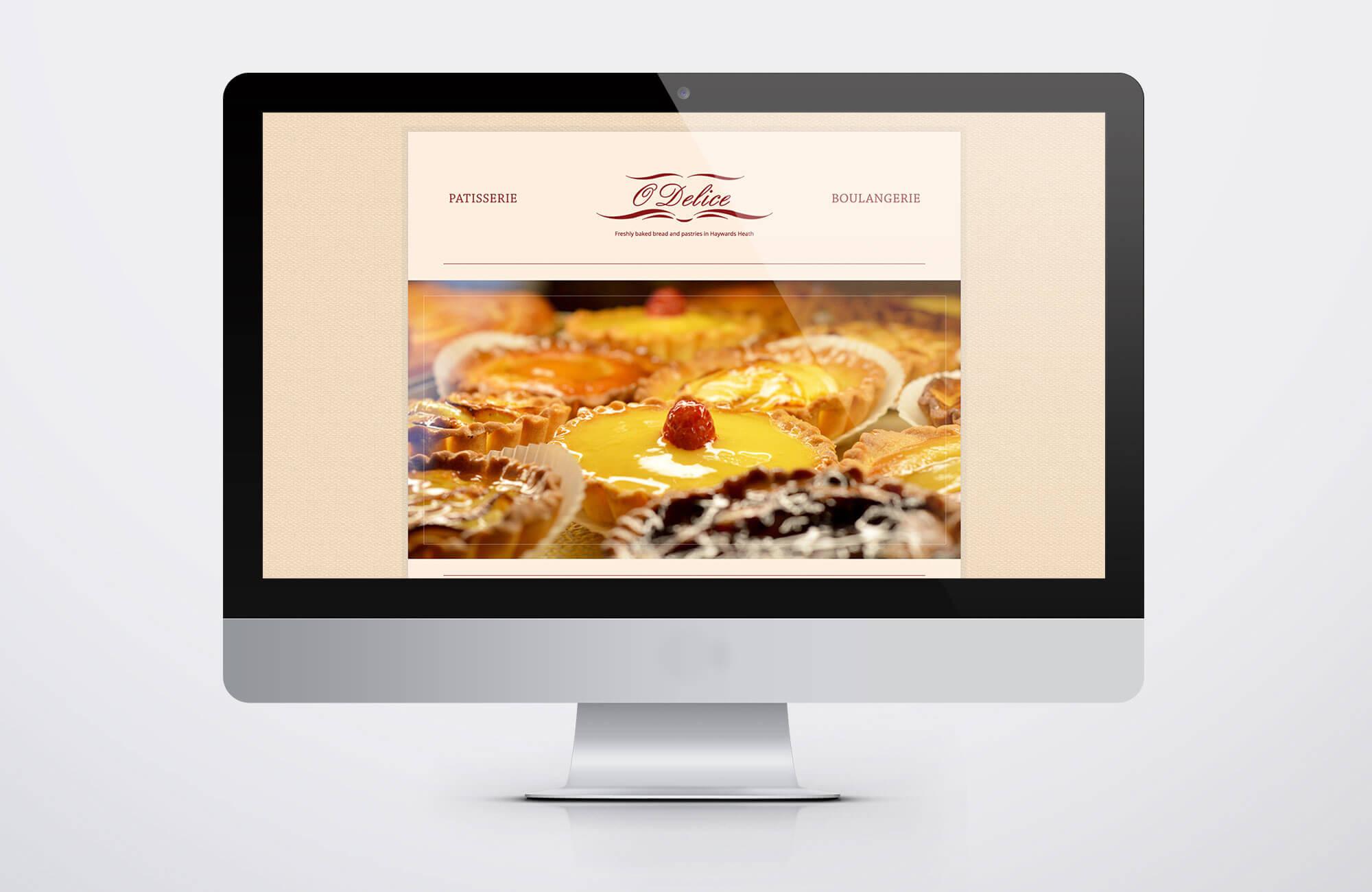 Odelice Website Design Visual