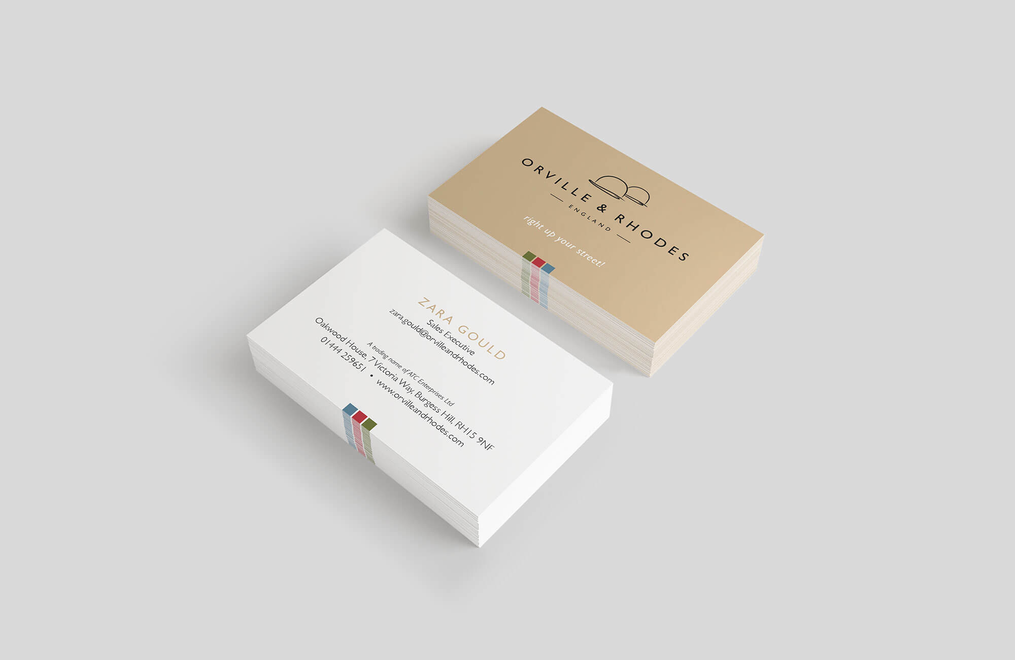 Orville & Rhodes Business Cards Design and Printing