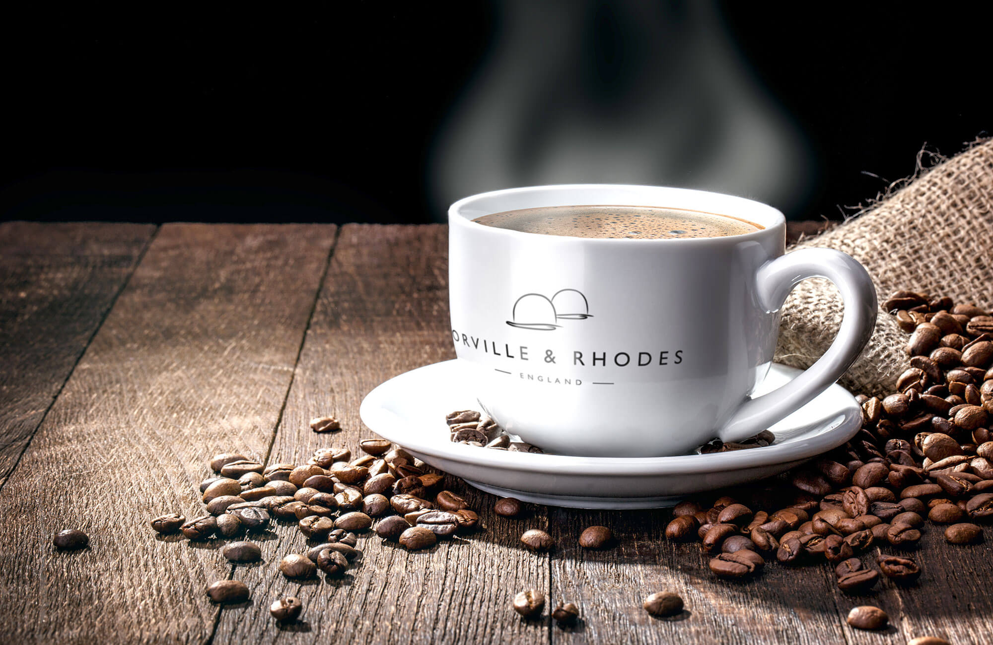 Orville & Rhodes Branded Coffee Cups