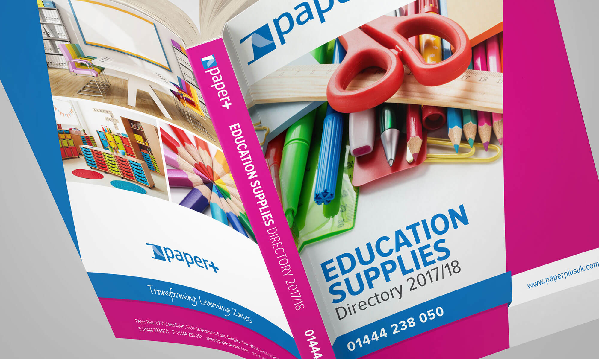Paper Plus Educational Catalogue Design Concept