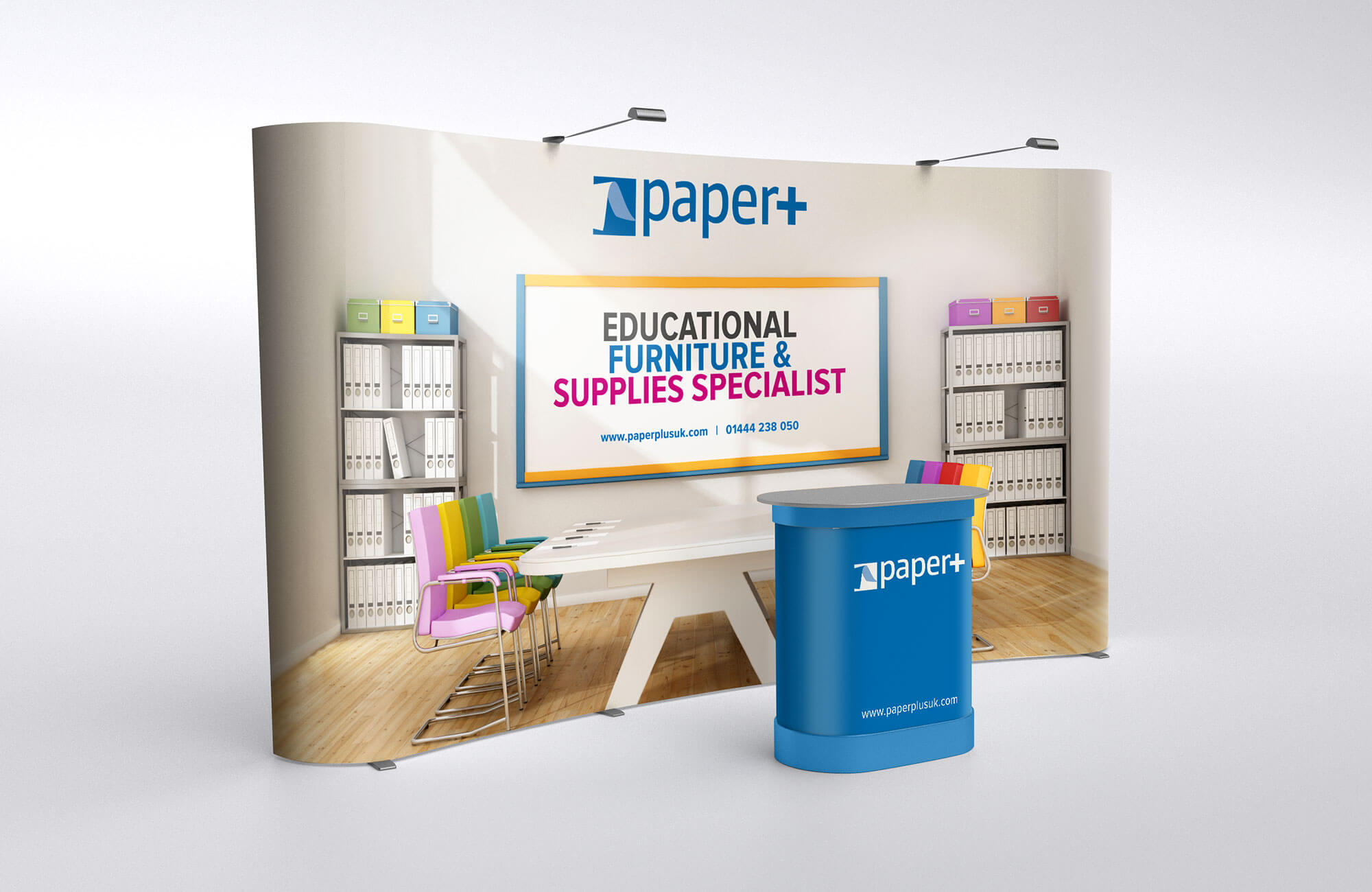 Paper Plus Exhibition Display Stand Design Concept