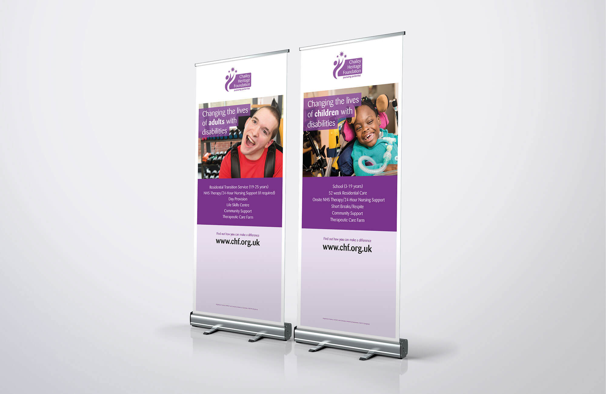 Chailey Heritage Roller Banners Design Concept