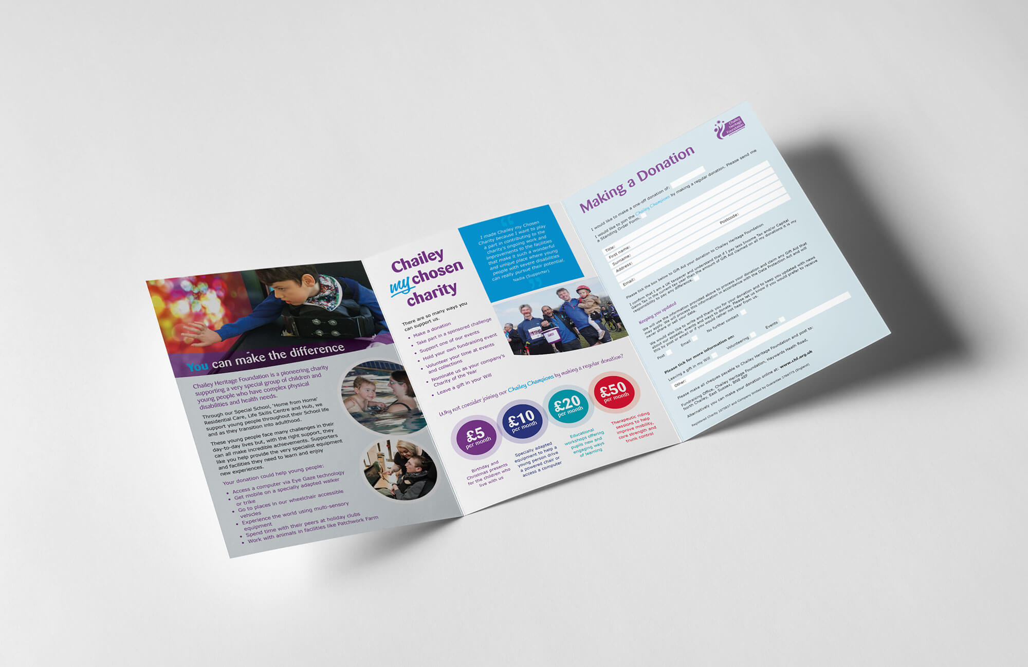 Chailey Heritage Brochure Design Concept