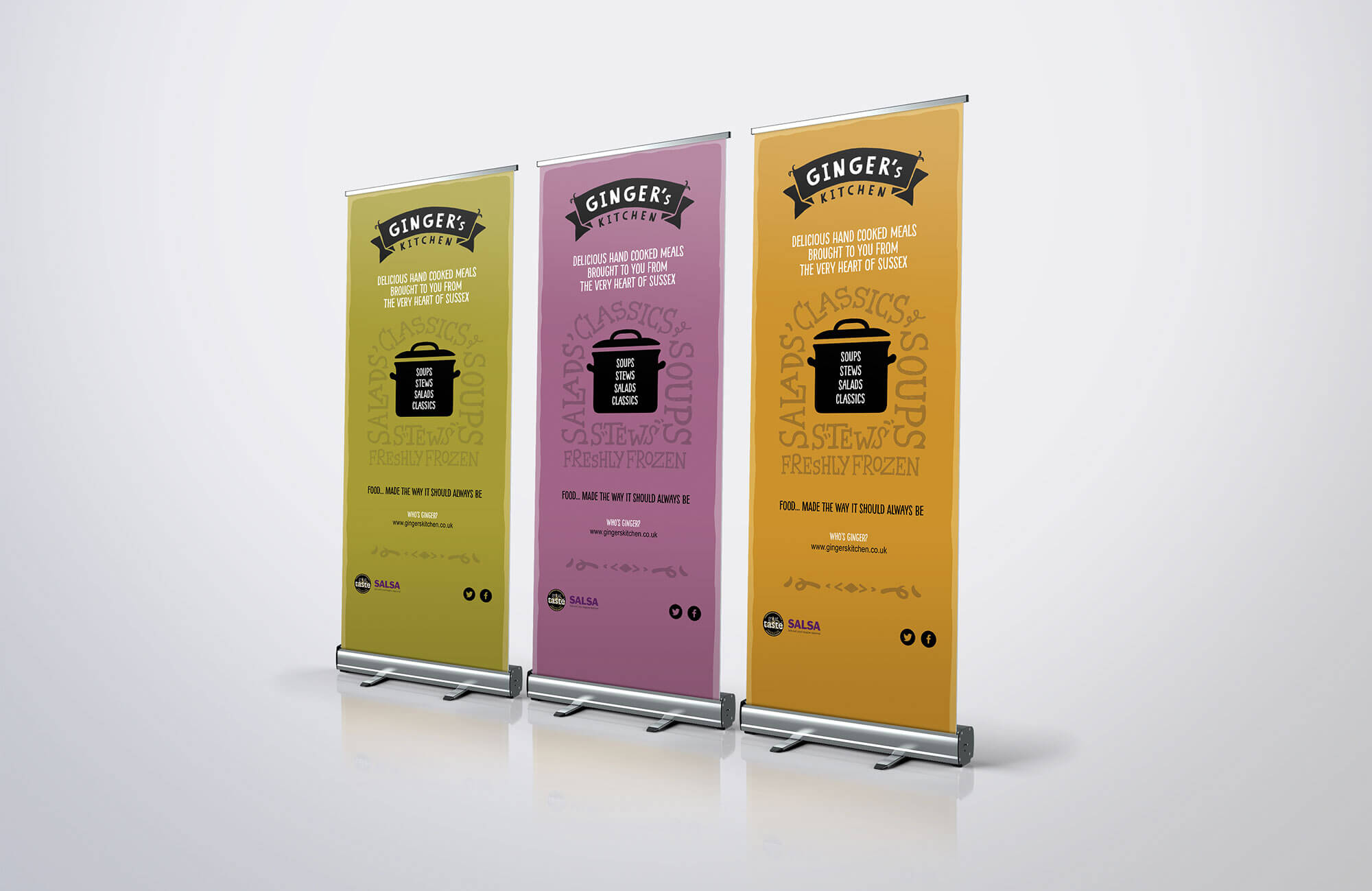 Ginger's Kitchen Roller Banner Design Concepts