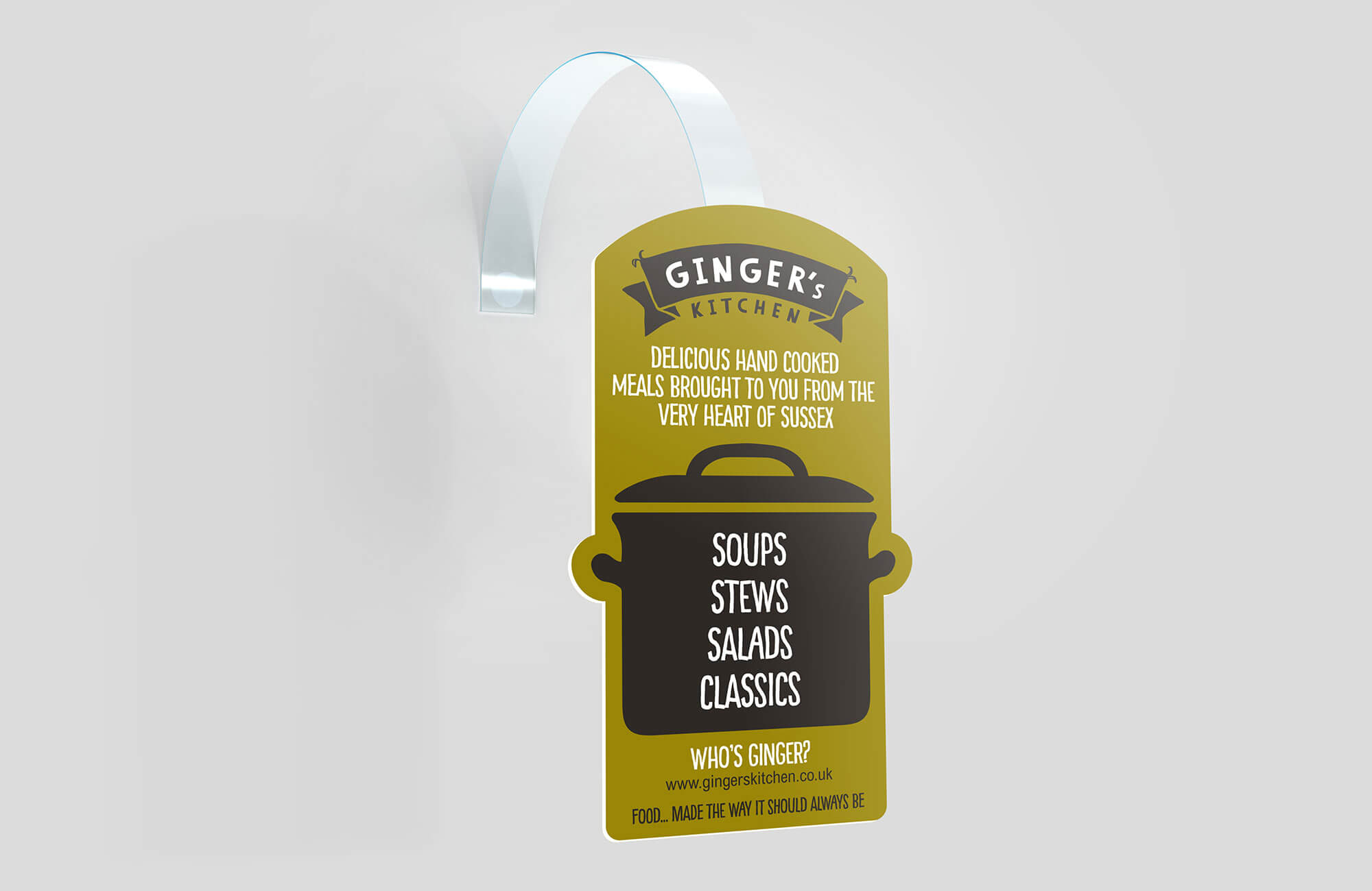 Ginger's Kitchen POS Shelf Wobbler Design and Printing