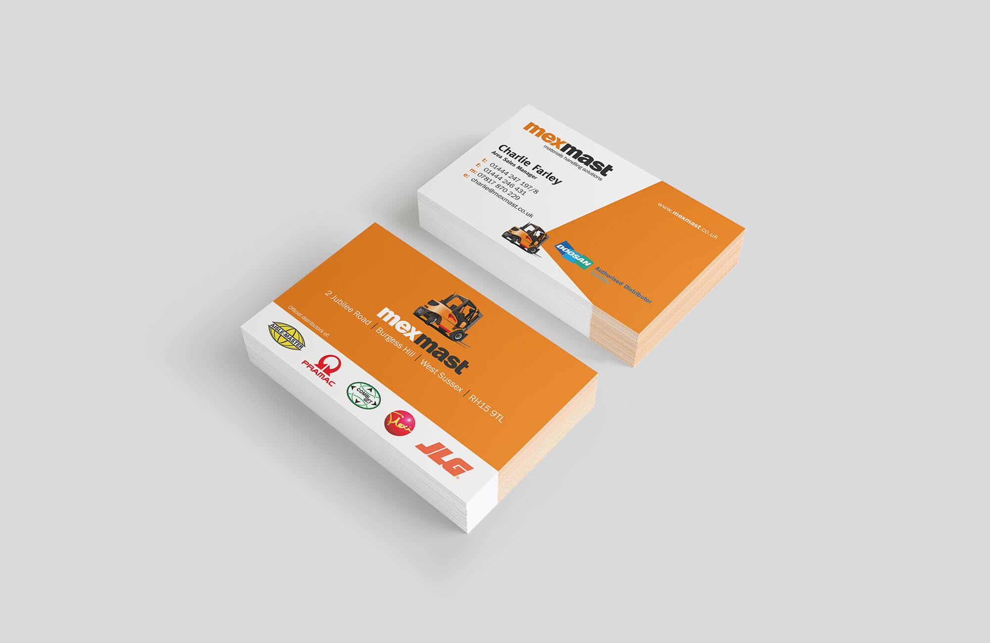 Mexmast Business Cards Design and Printing