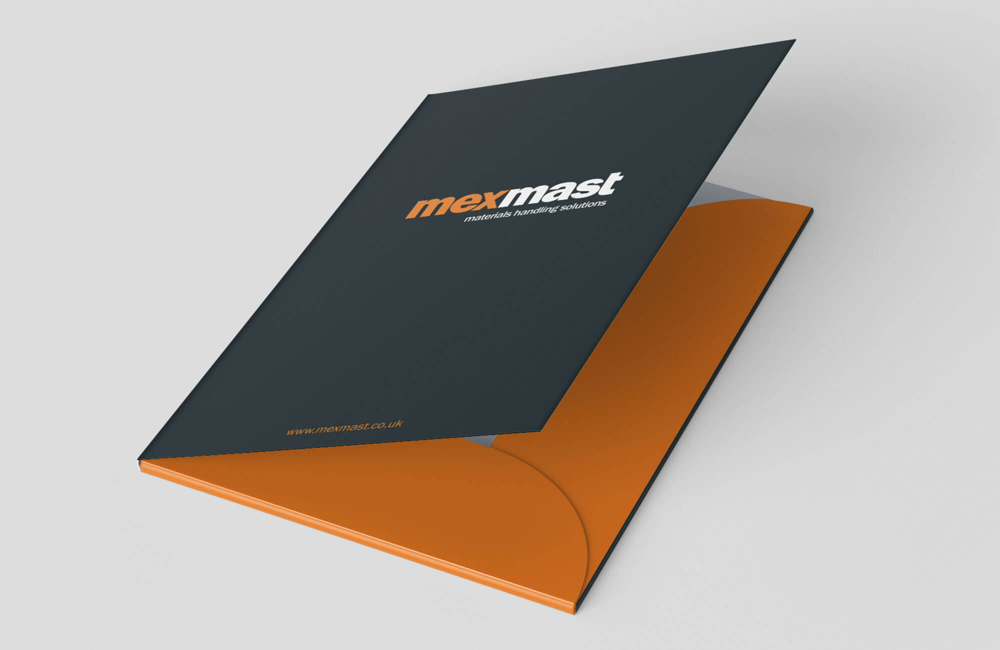 Mexmast Presentation Folder Design