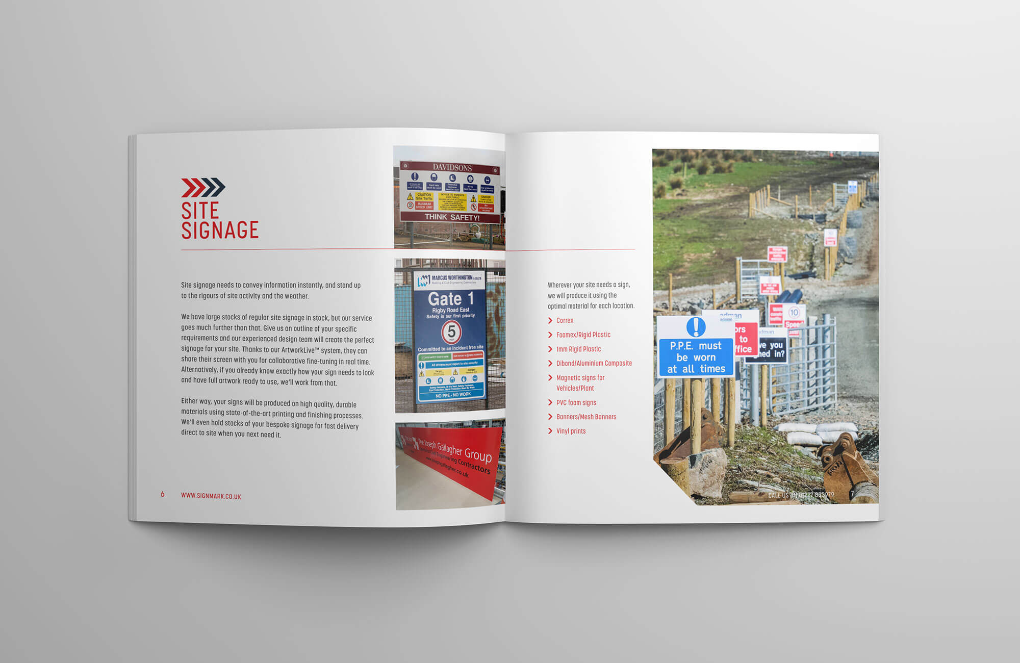 Signmark Overview Brochure Inside Spread