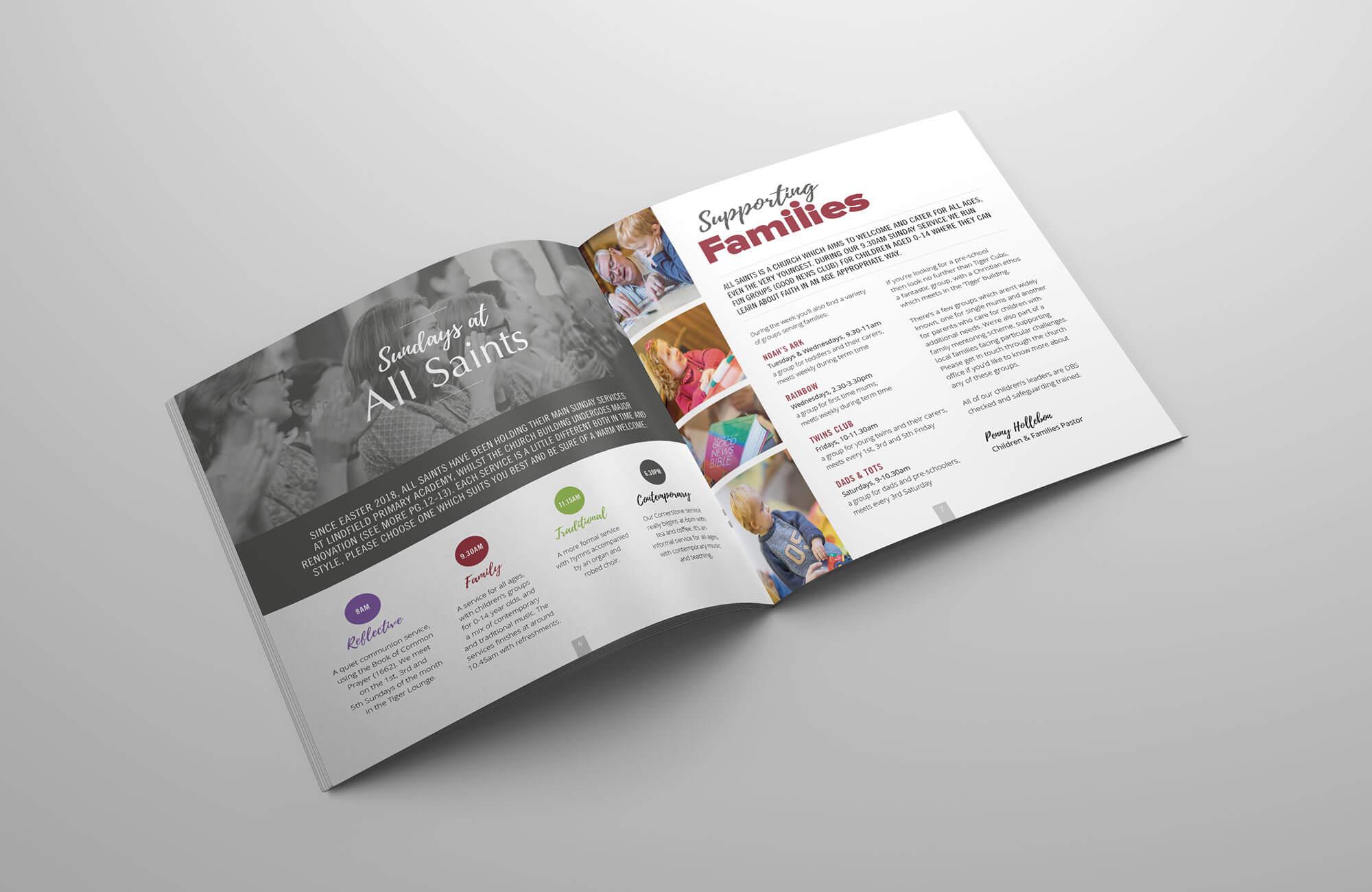 All Saints Church Community Magazine Design