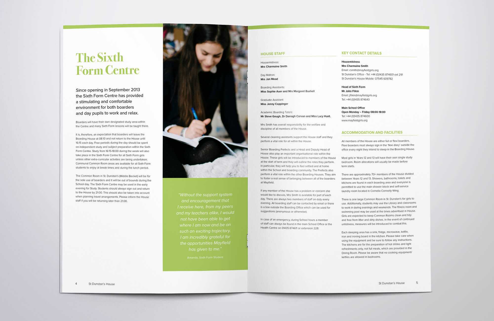 Mayfield School Brochure Graphic Design & Print