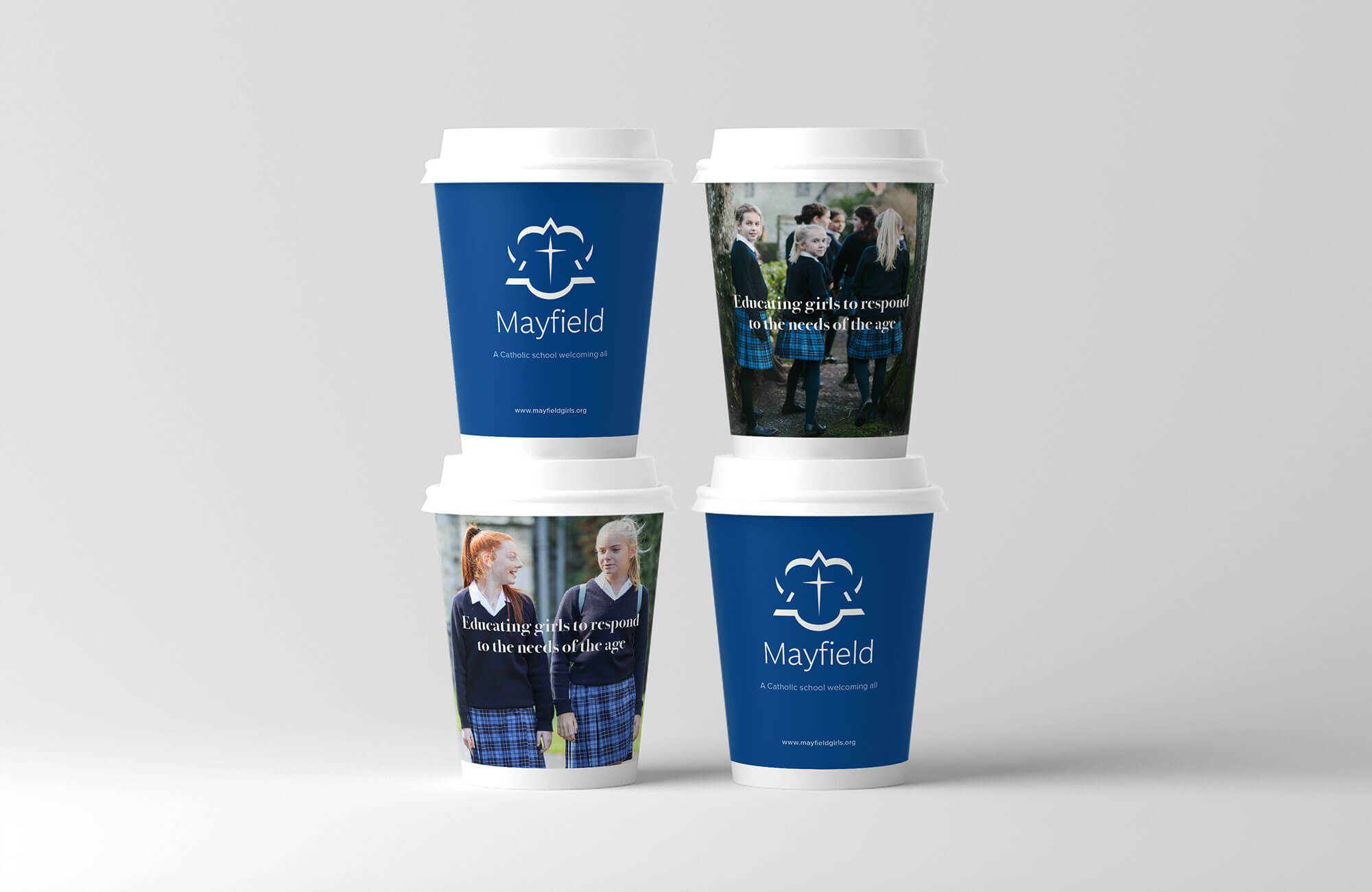 Mayfield School Branded Coffee Cup Design Concept