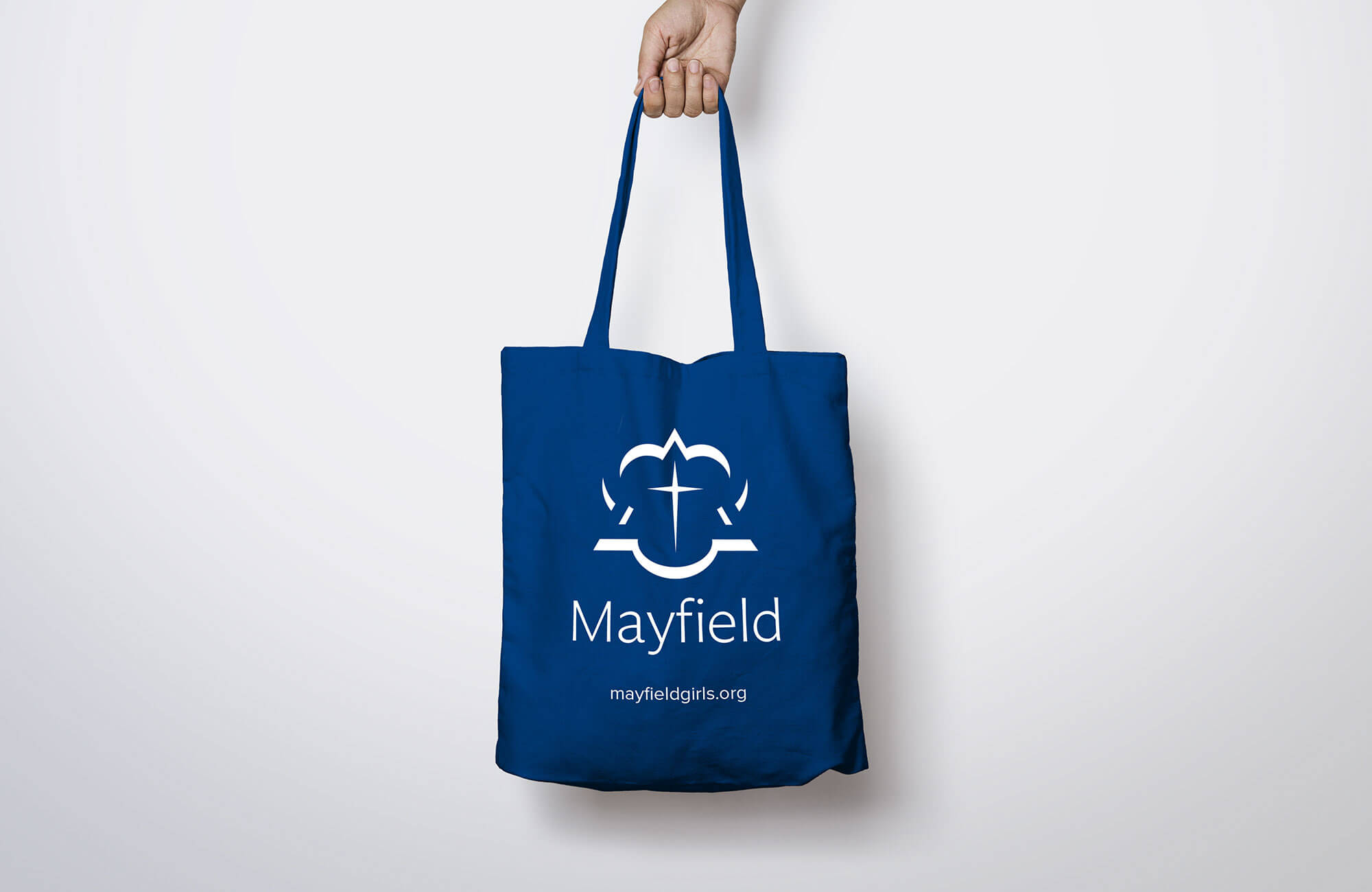Mayfield School Branded Cotton Tote Bag Design Concept