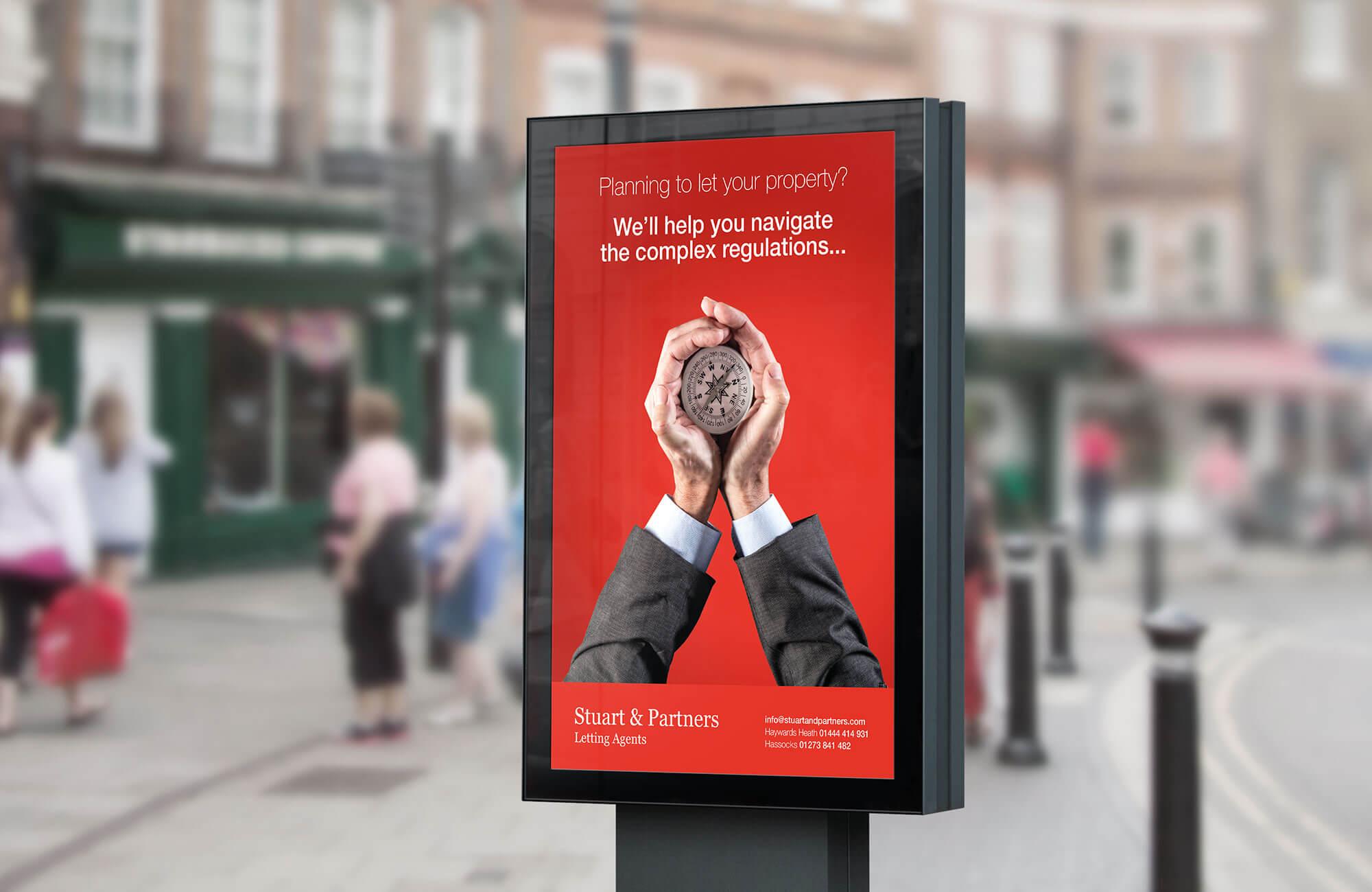 Stuart & Partners Promotional Poster Design Concept