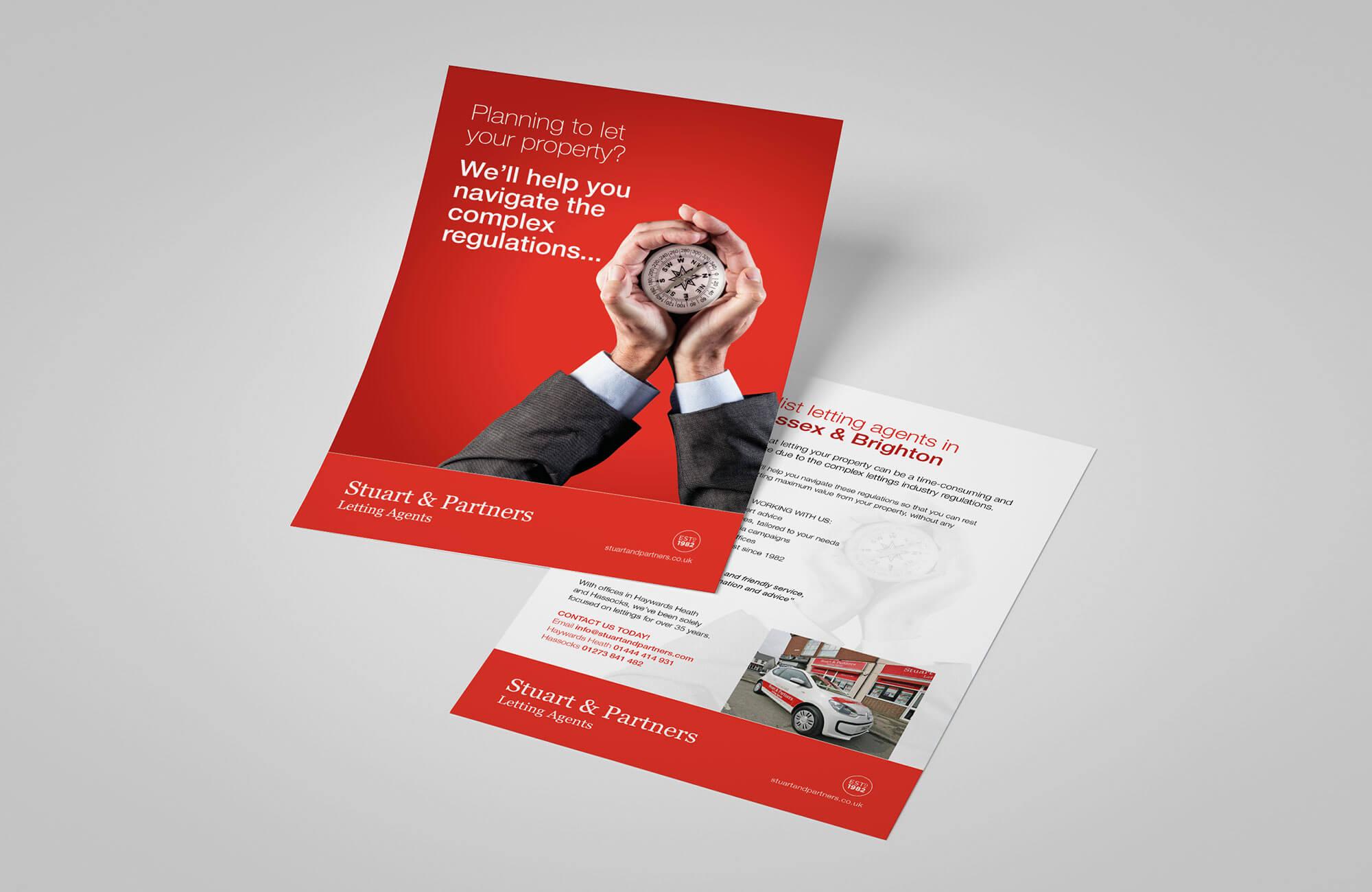 Stuart & Partners Promotional Flyer Design Concept