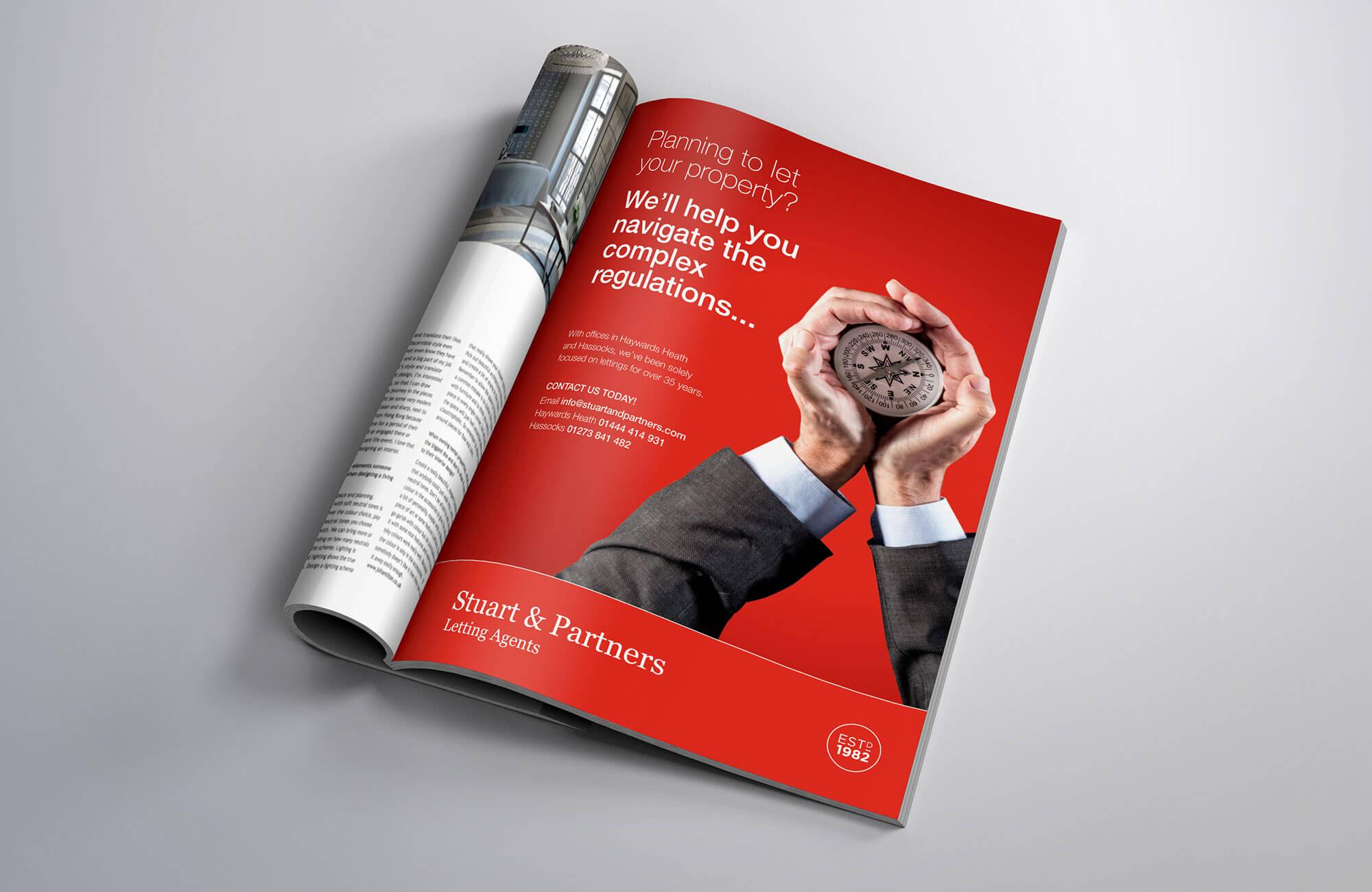 Stuart & Partners Marketing Campaign Advert Design Concept