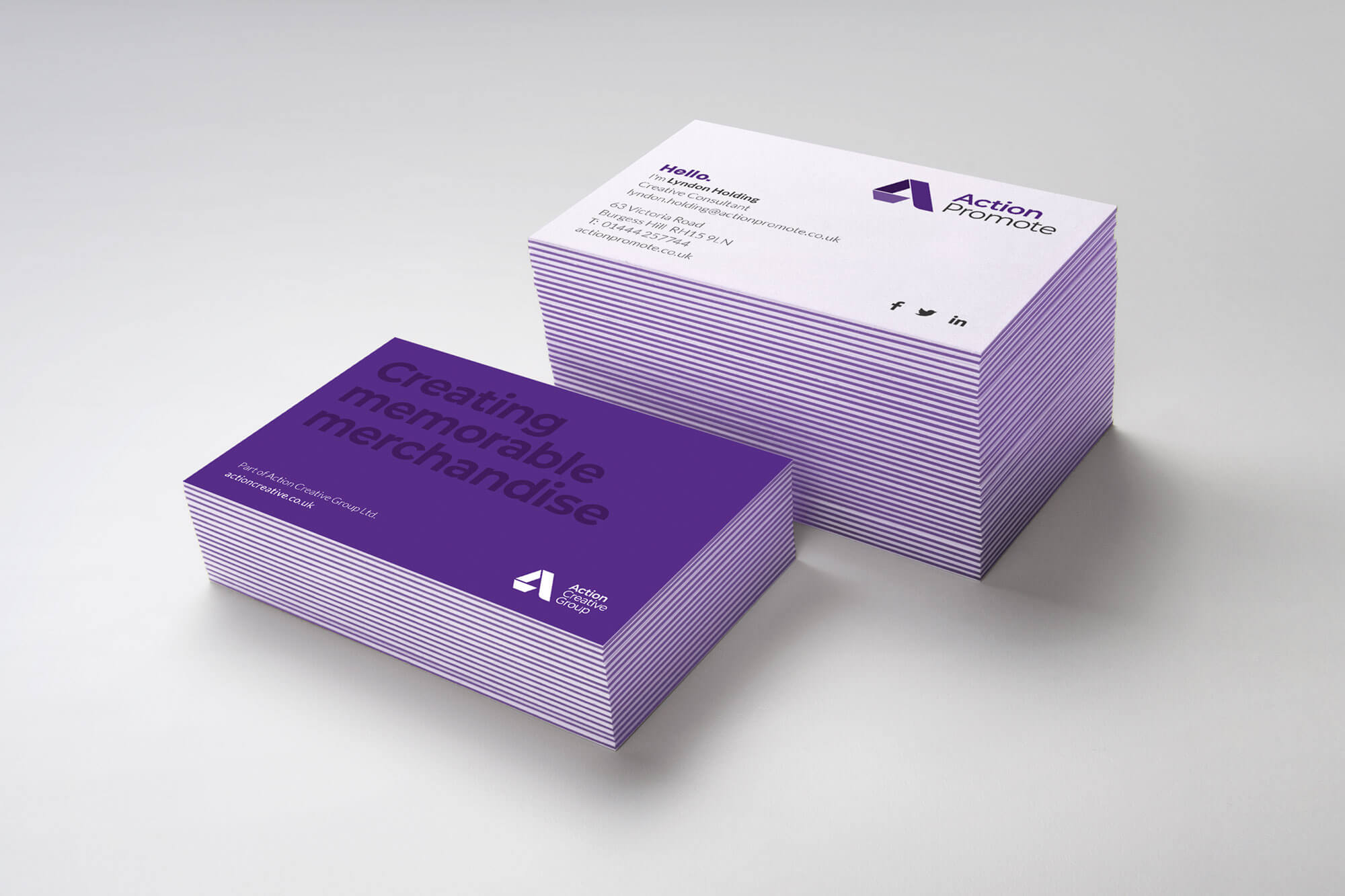 Action Promote Business Cards Design and Print